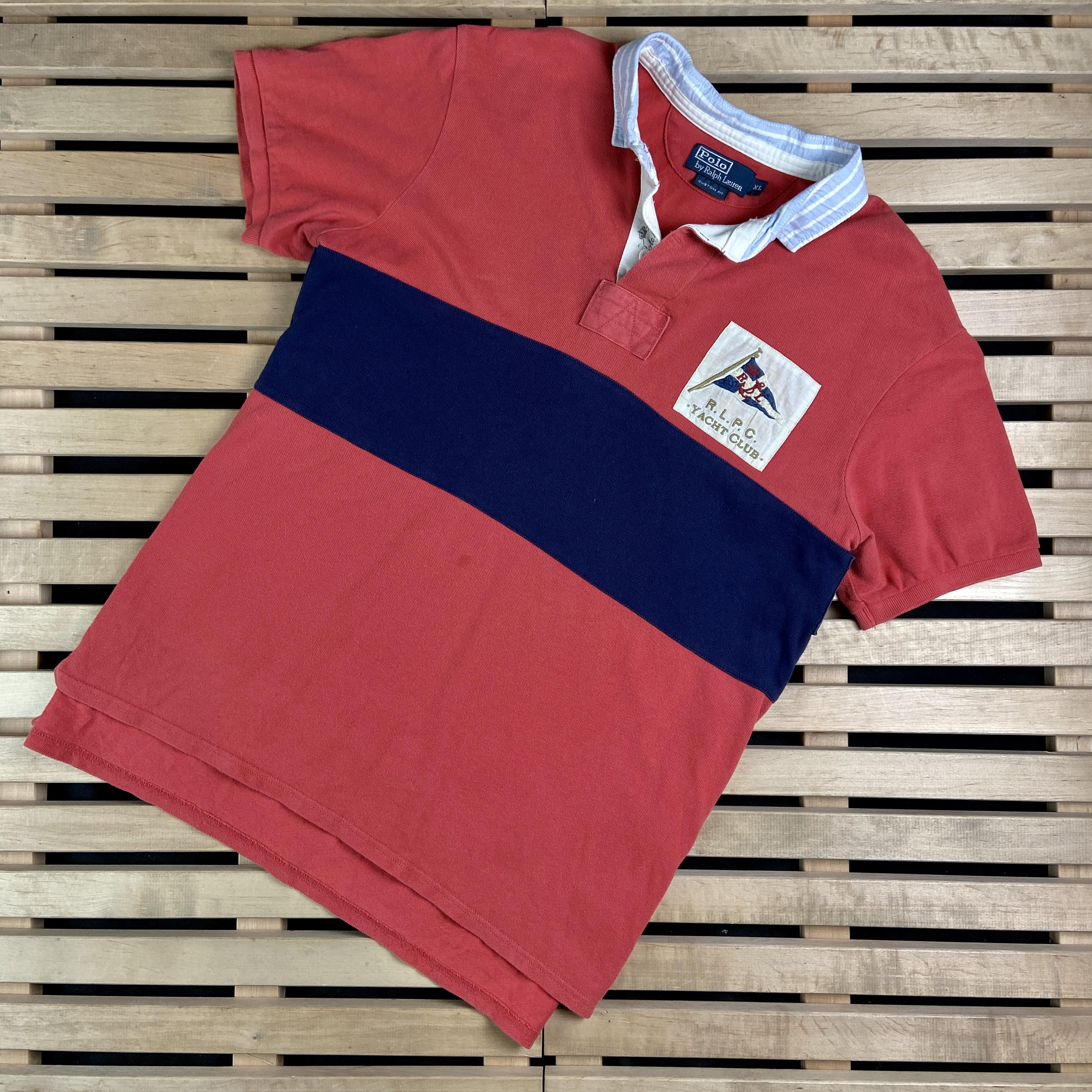 Ralph Lauren Mens Polo T Shirt Polo Ralph Lauren Vintage Size XL RLPC