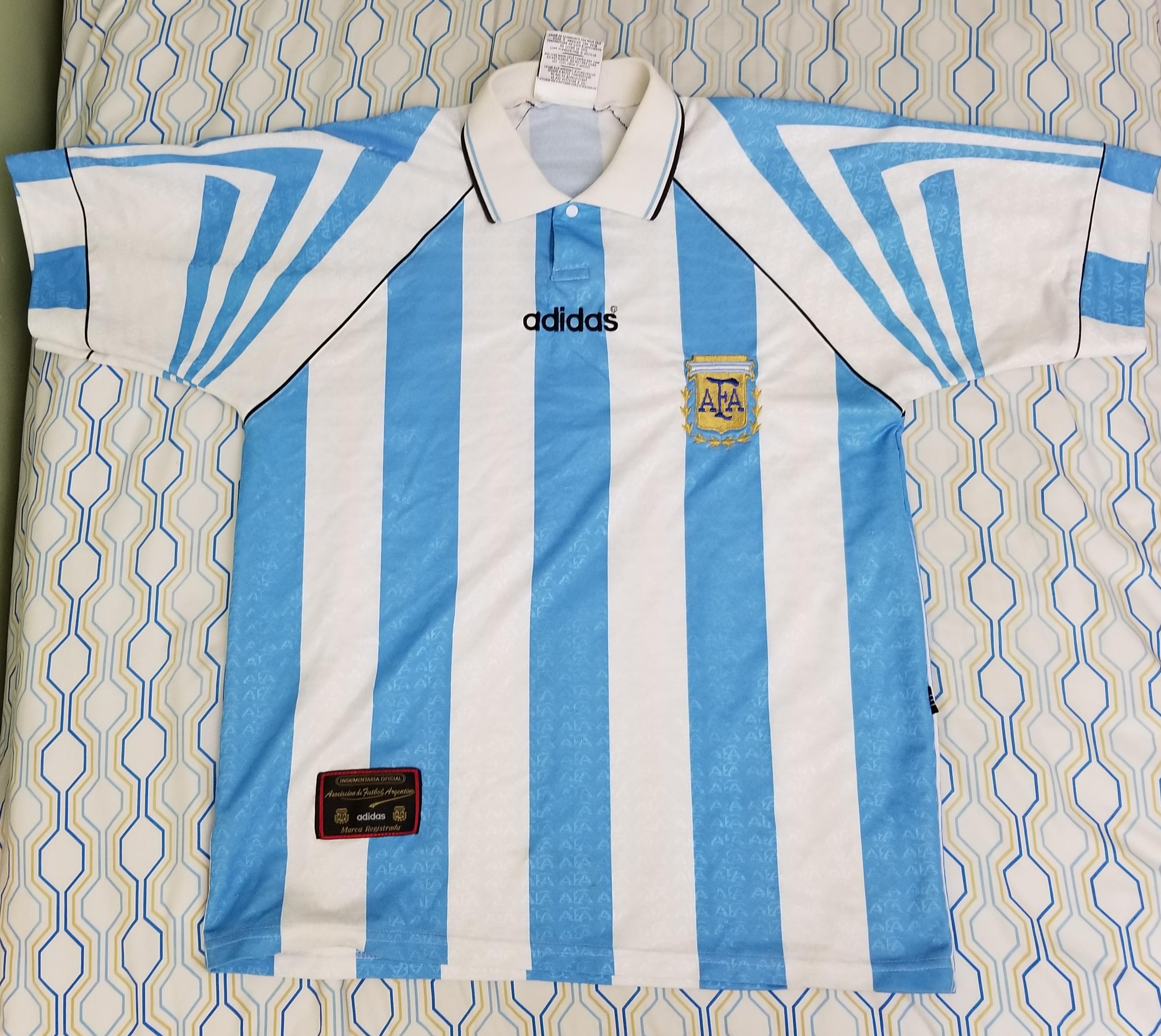 Adidas Vintage 90s 1996 1997 Adidas Argentina AFA Soccer Jersey