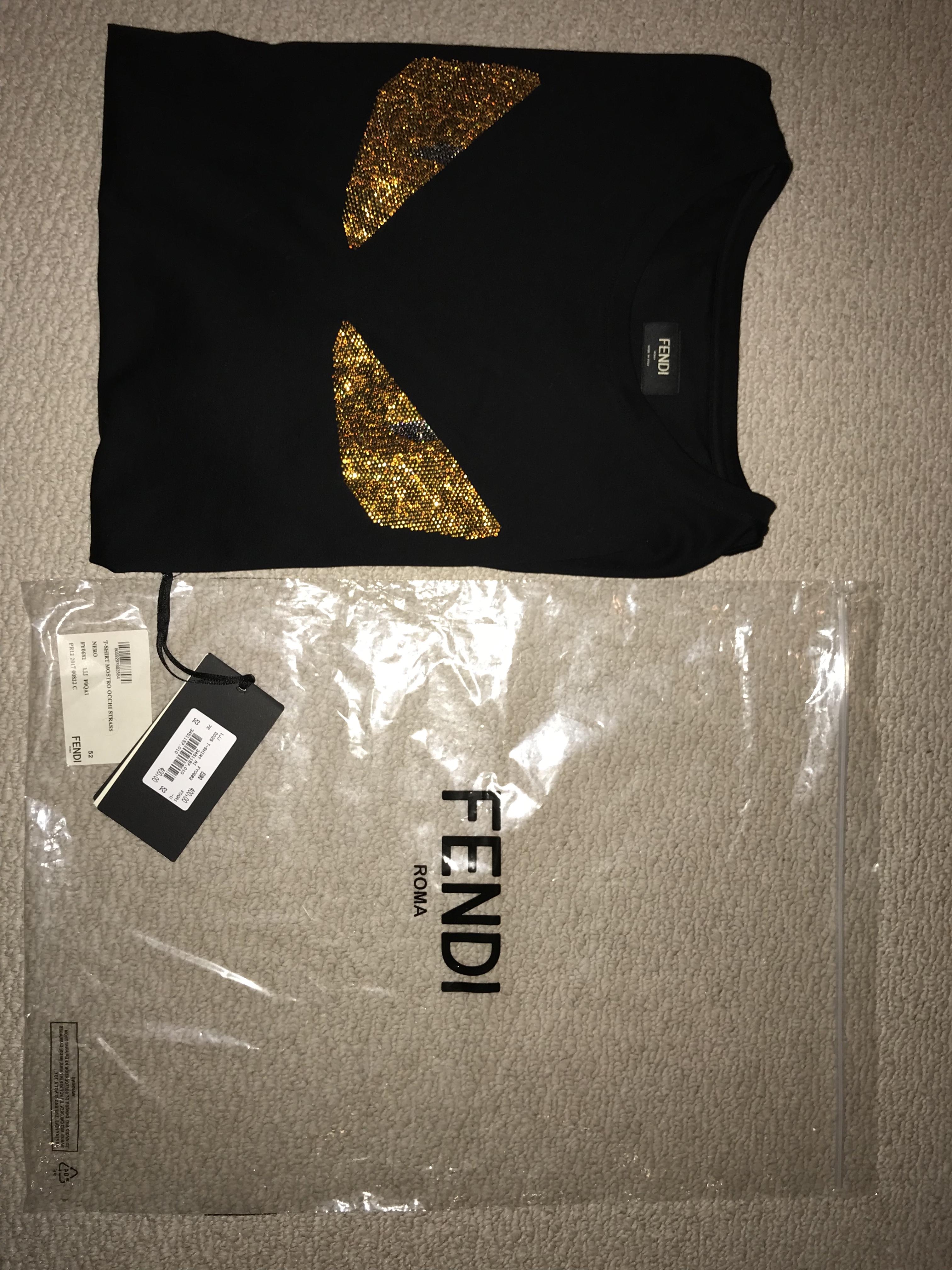 54818c27 Fendi Fendi Gold Monster Eyes Shirt | Grailed