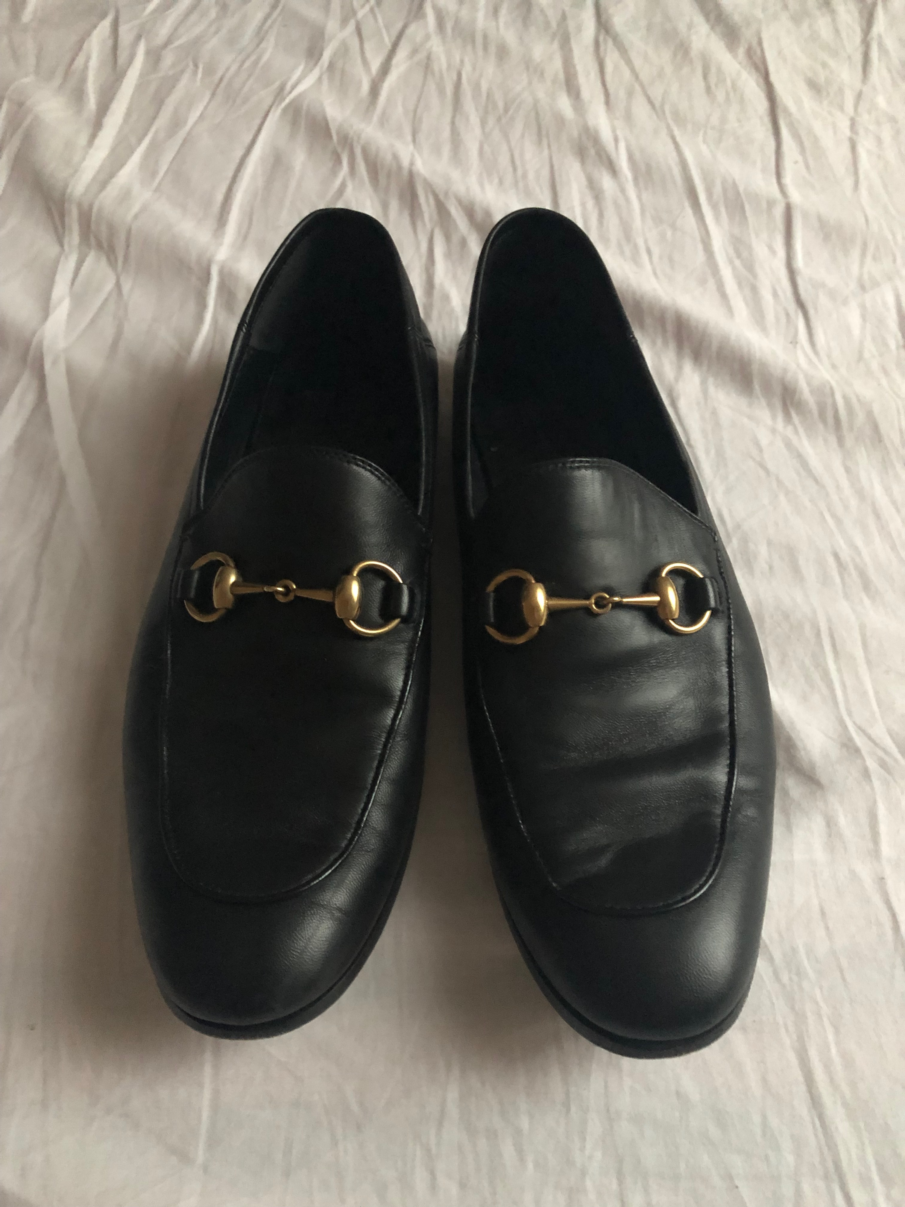 fc3da86231f Gucci Black Jordaan Loafers Size 8.5 - Casual Leather Shoes for Sale ...