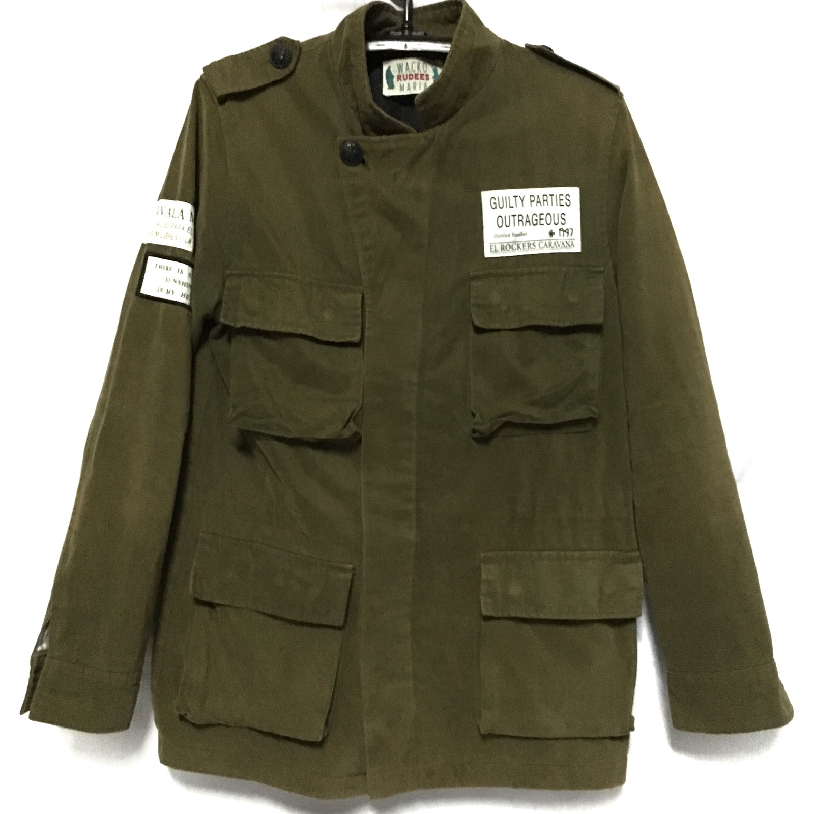 dae566870e73 Wacko Maria Army Light Jacket Four Pocket Green Color not comme des garcons  helmut lang pierre