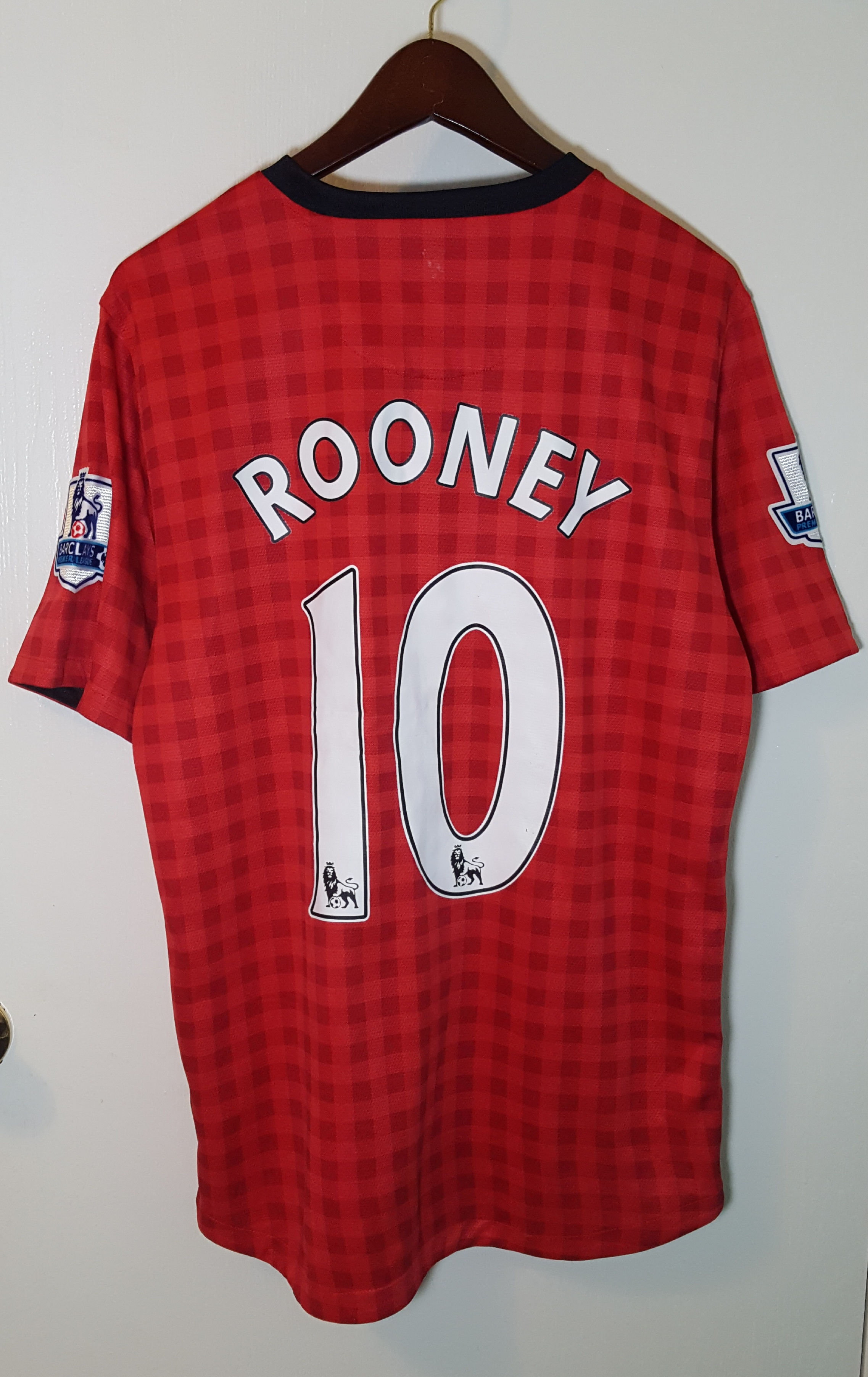 b0378bfb7 Nike × Soccer Jersey × Manchester United ×. Authentic Wayne Rooney Manchester  United Nike Shirt ...