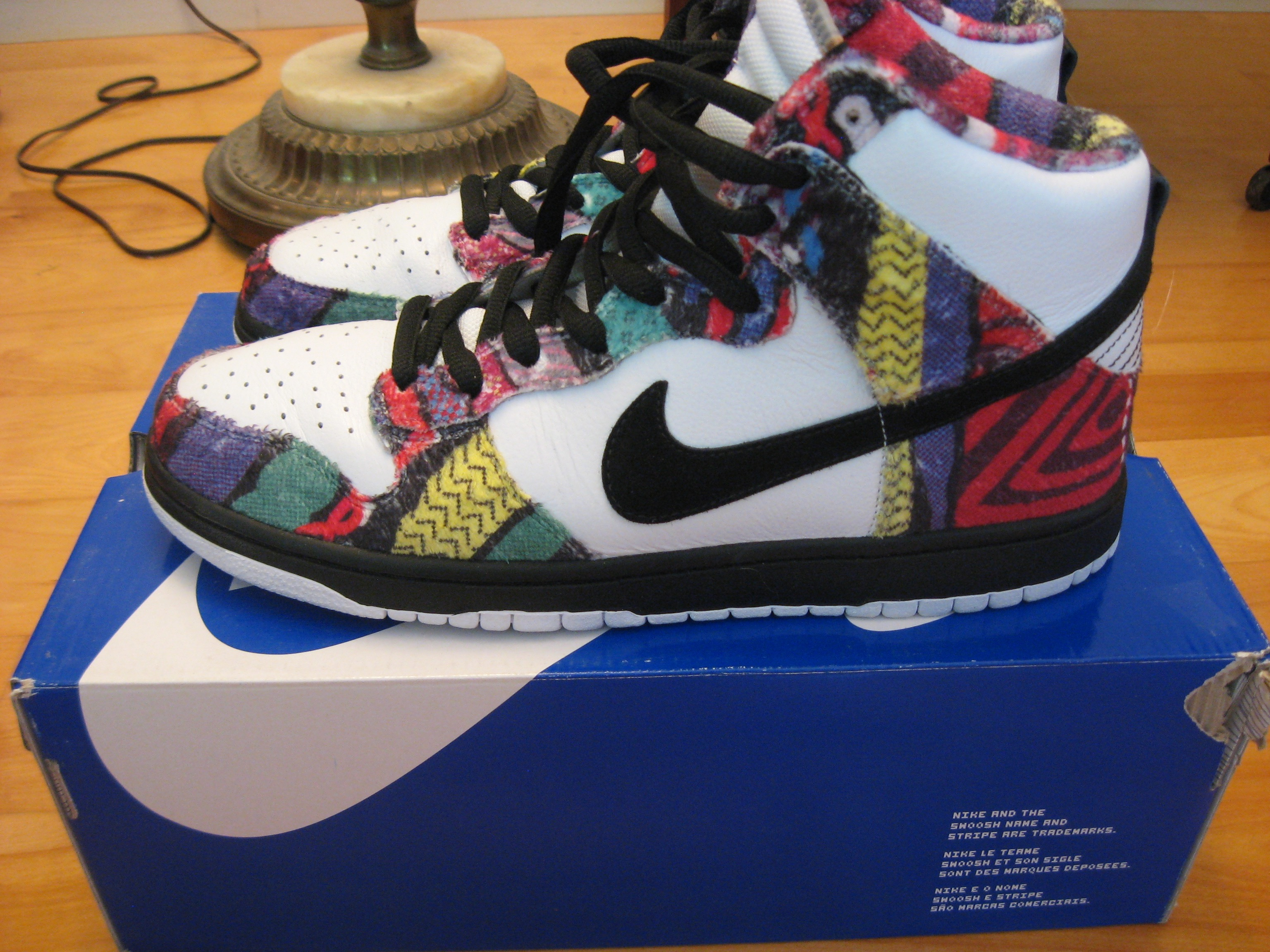 wholesale dealer b7f74 33fd7 Nike VNDS Sz.11 Nike SB Dunk High Cosby Huxtable Coogi Sweater Size 11 - Hi-Top  Sneakers for Sale - Grailed