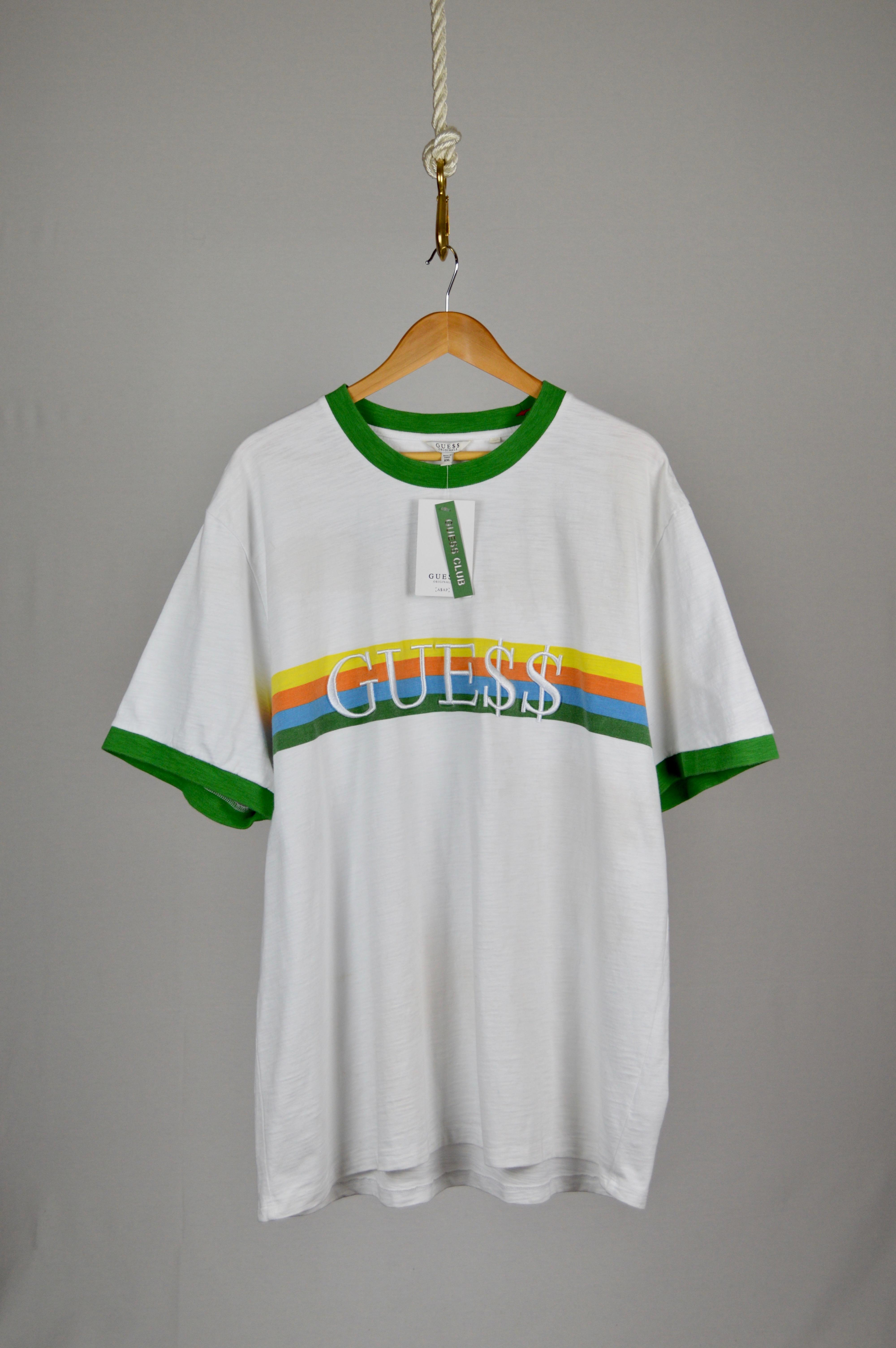 8092bb36e81e Guess A$ap Rocky X Gue$$ Green Collared S/s T-shirt   Grailed