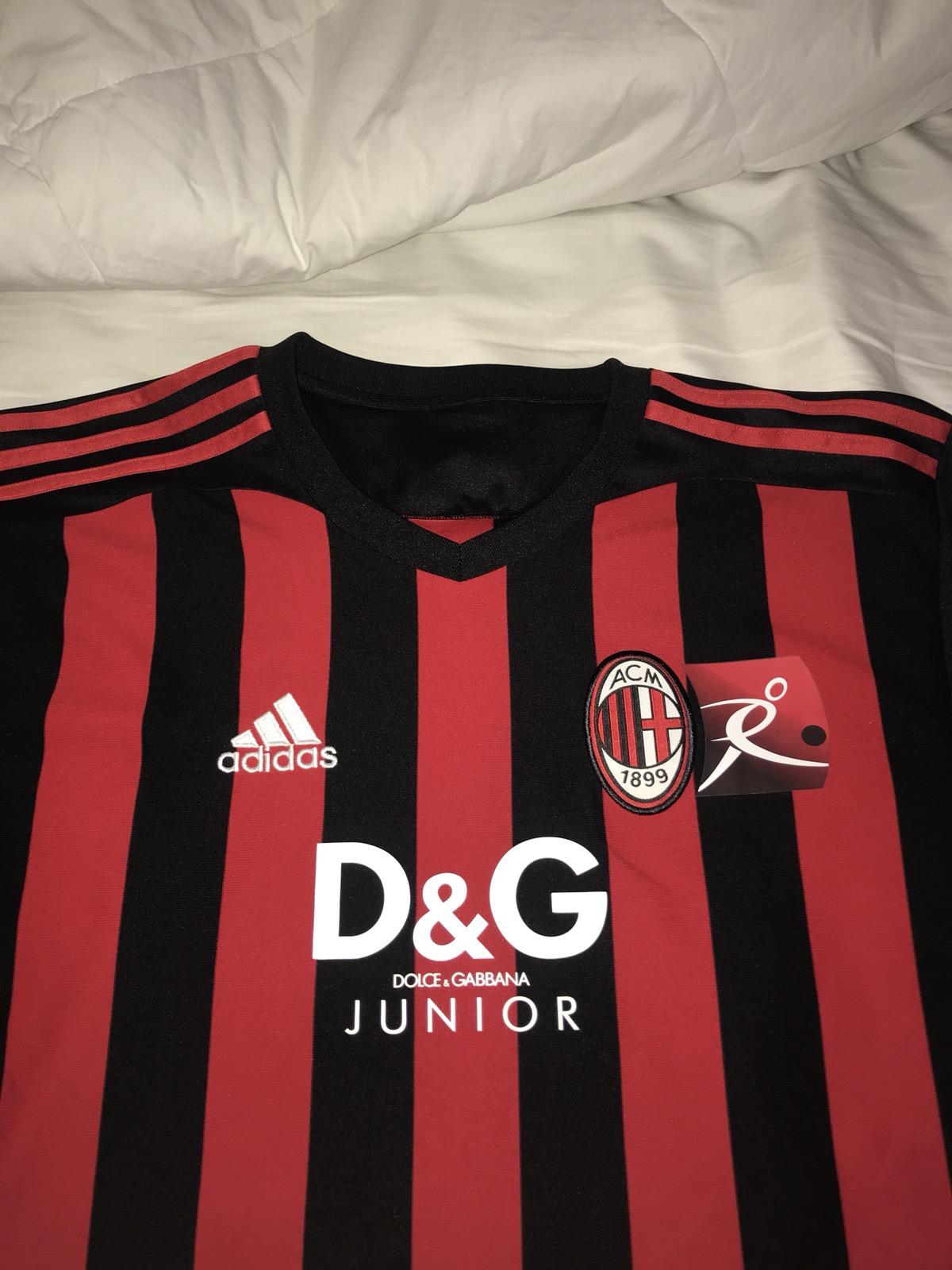 best website 72a99 bdcbb Dolce & Gabbana AC Milan Jersey