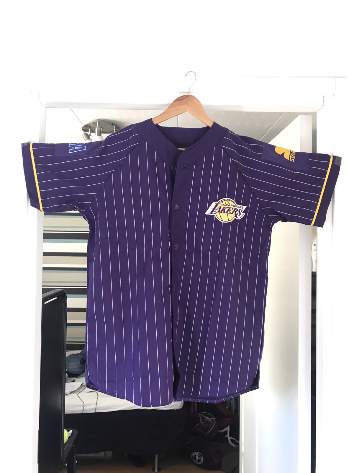 Starter Starter Lakers Baseball Shirt