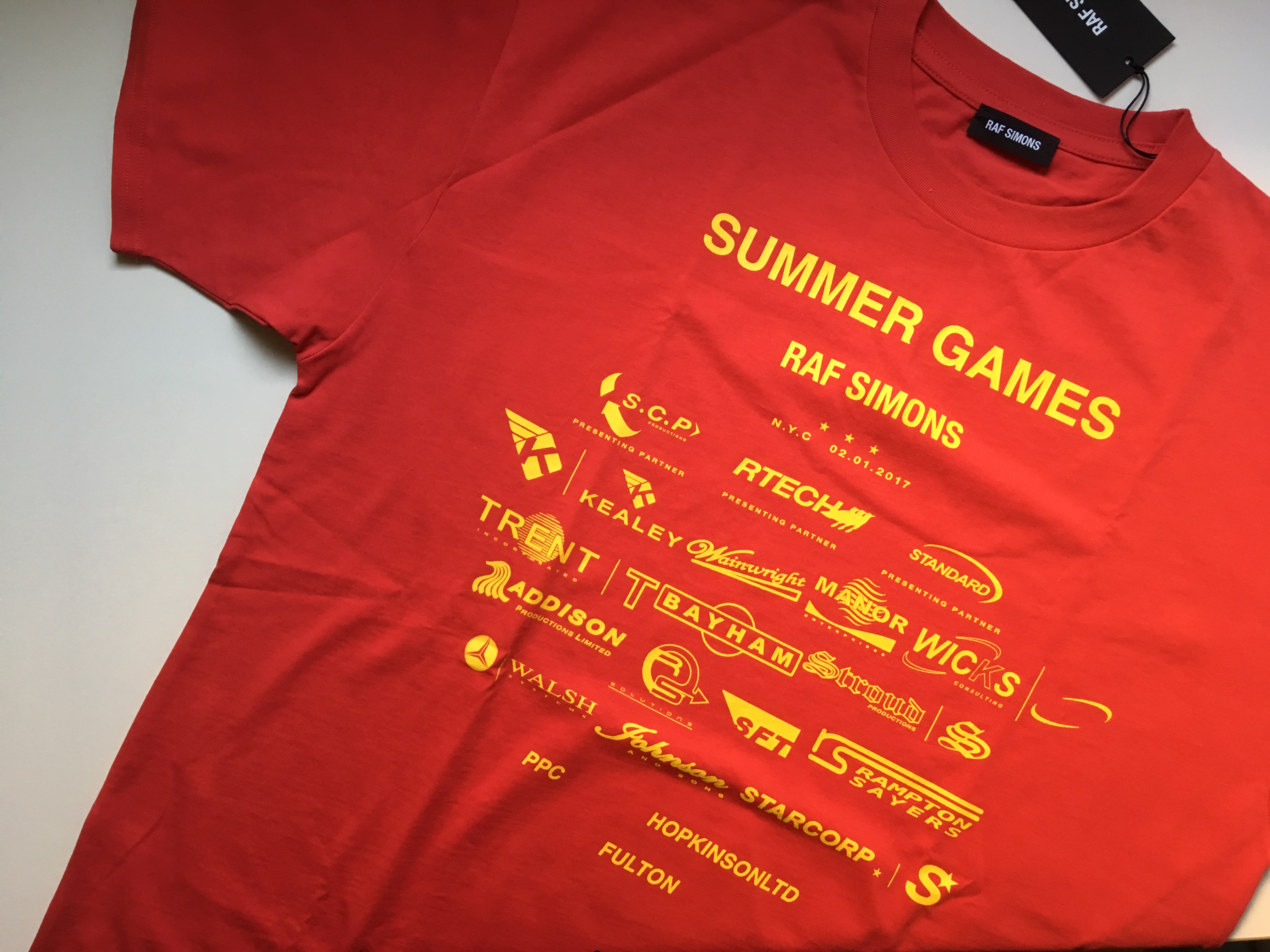 d0eb22c0f63 Raf Simons Summer Games T shirts Size m - Short Sleeve T-Shirts for Sale -  Grailed