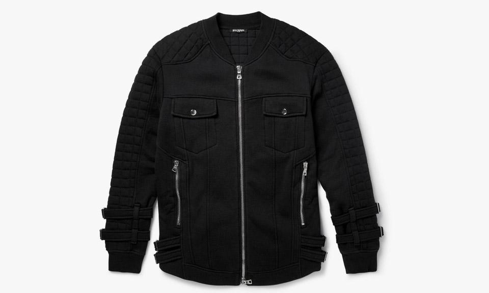 a5e262c799 Balmain Quilted Fleece Cotton Biker Jacket | Grailed