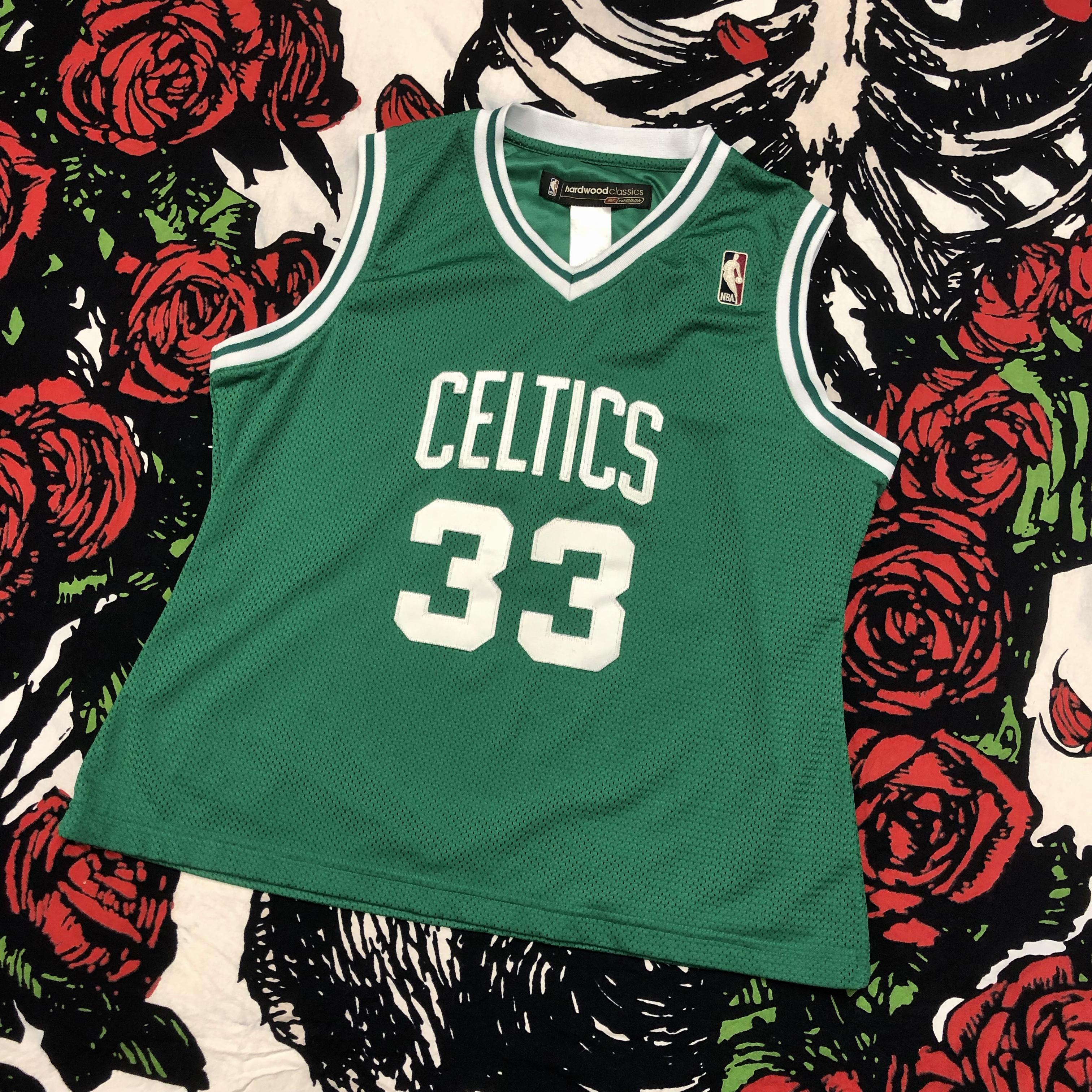 92e922db9bd Vintage × Reebok × Nba. 2000s Larry Bird Boston Celtics Basketball Hardwood  Classics Embroidered Jersey VTG
