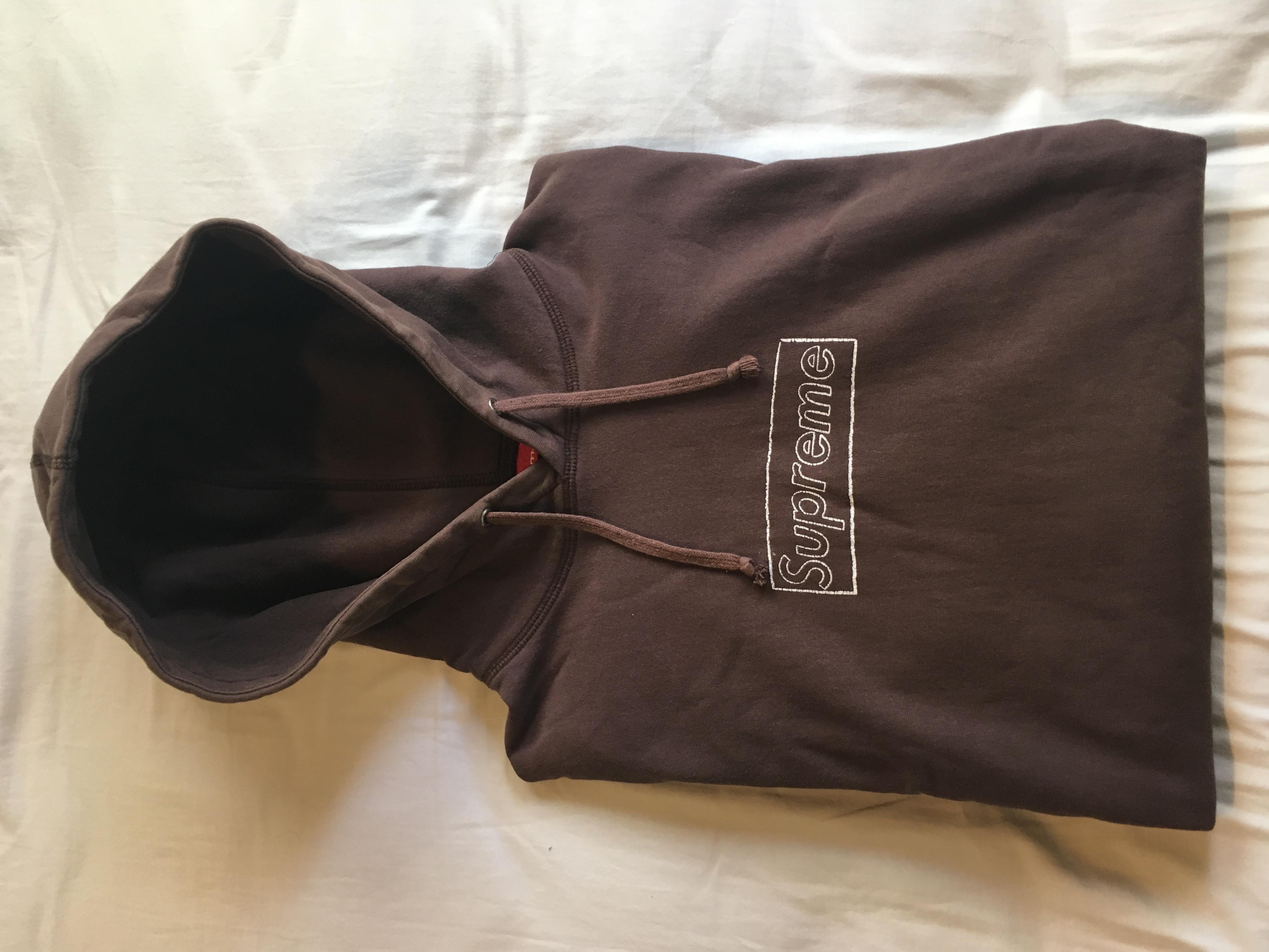 7c6c86f236b9 Supreme Supreme Kaws Box Logo Hooded Sweatshirt Hoodie - Brown (medium) Ss11