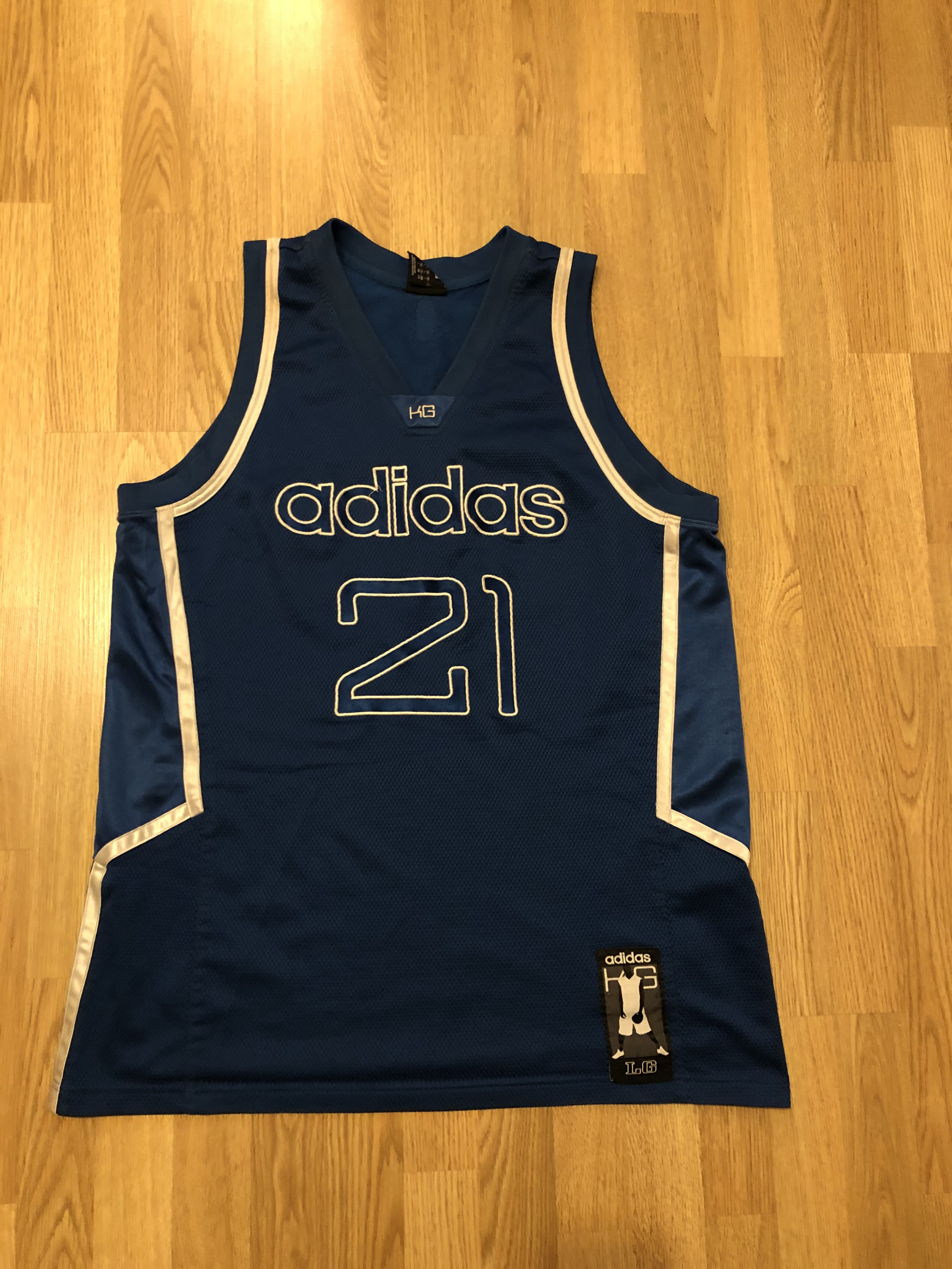 Adidas Vintage Kevin Garnett 21 Adidas Jersey NBA Size L