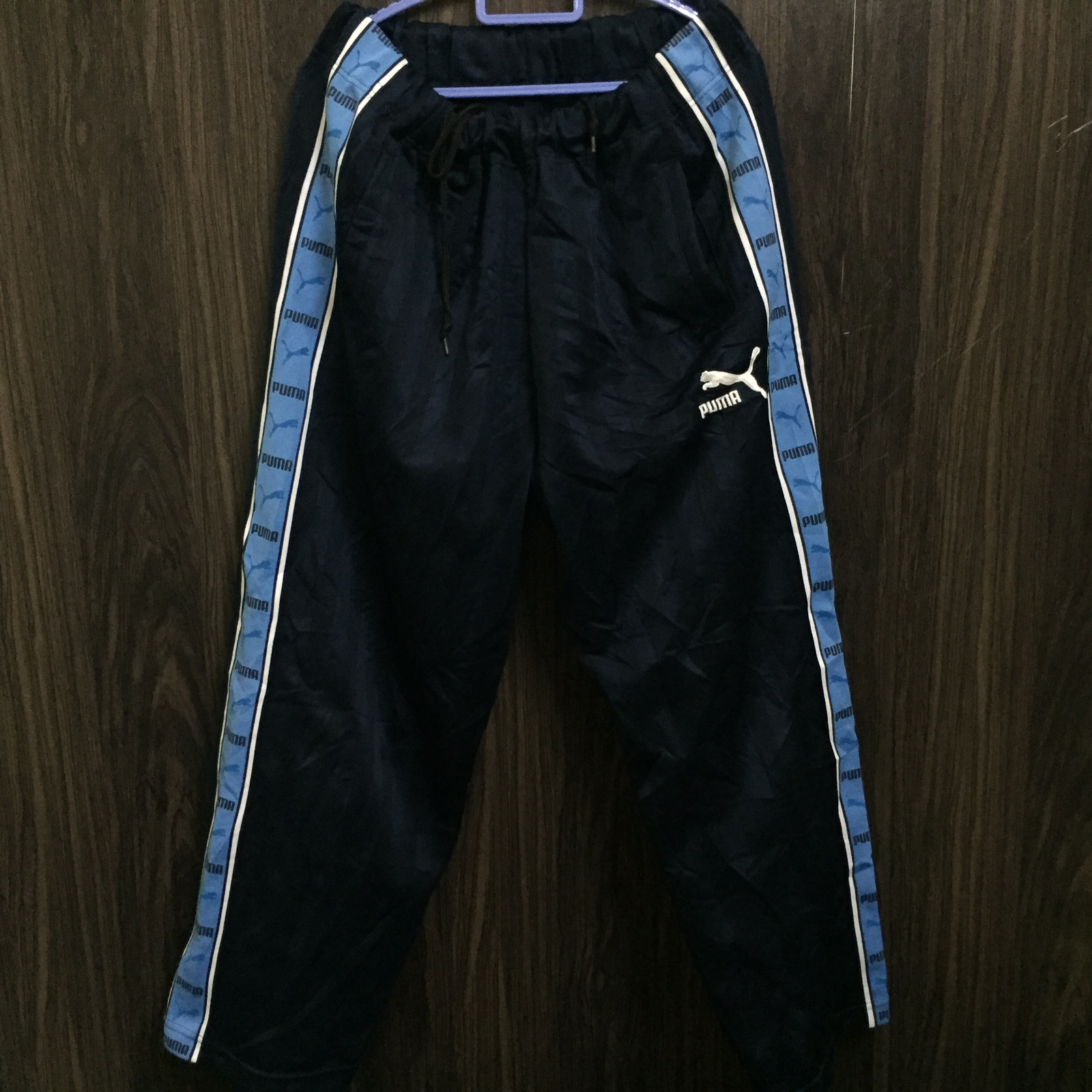 b59491bad6 Vintage × Puma ×. Vintage 90s Puma Striped Track Pants / Side Tape ...