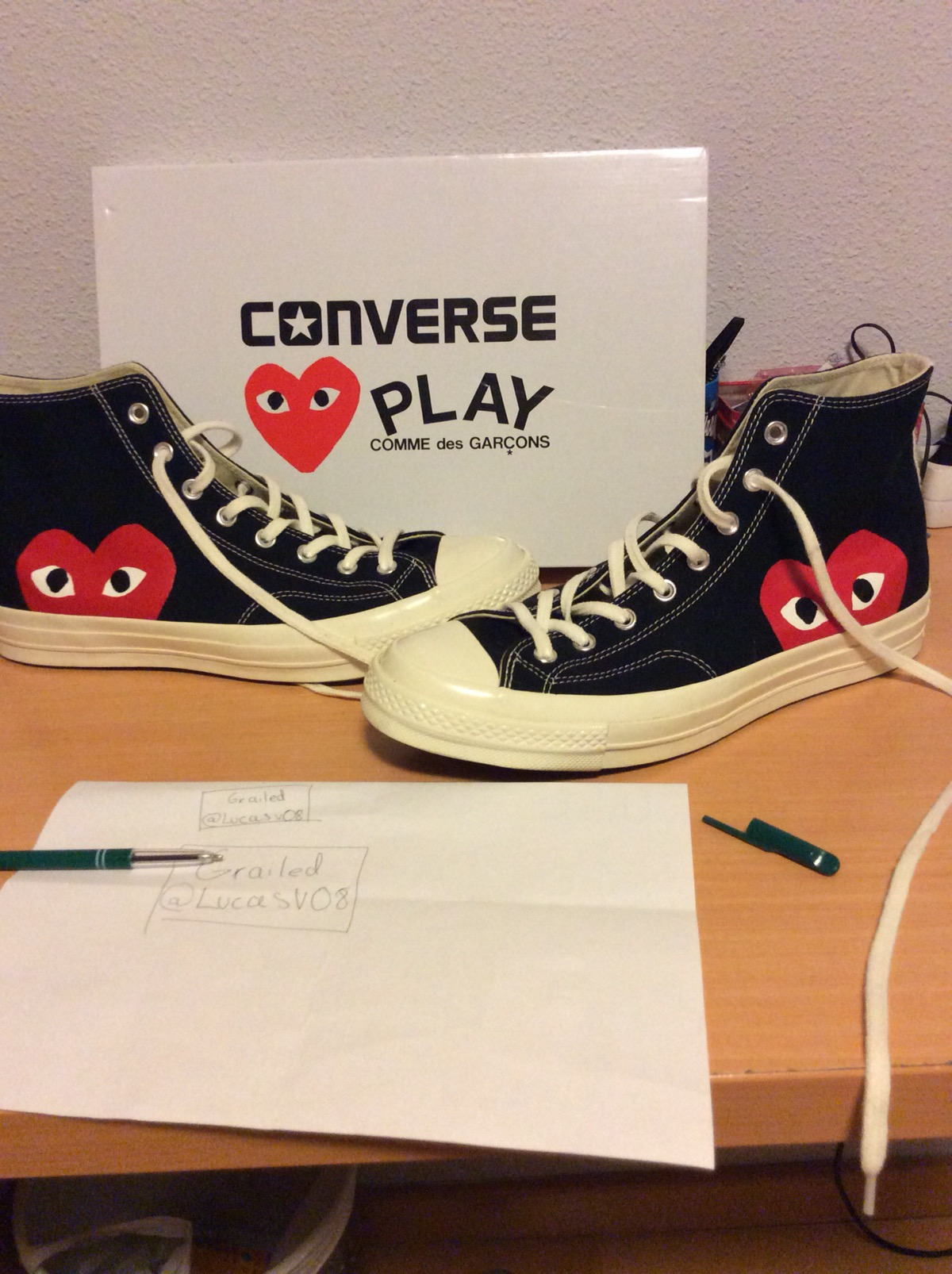 67de67682f6d Converse Comme Des Garçons PLAY X converse Chuck Taylor - Hidden Heart High  Top Sneaker Men 11 Women 13 M Black Canvas Size 11 - Hi-Top Sneakers for  Sale - ...