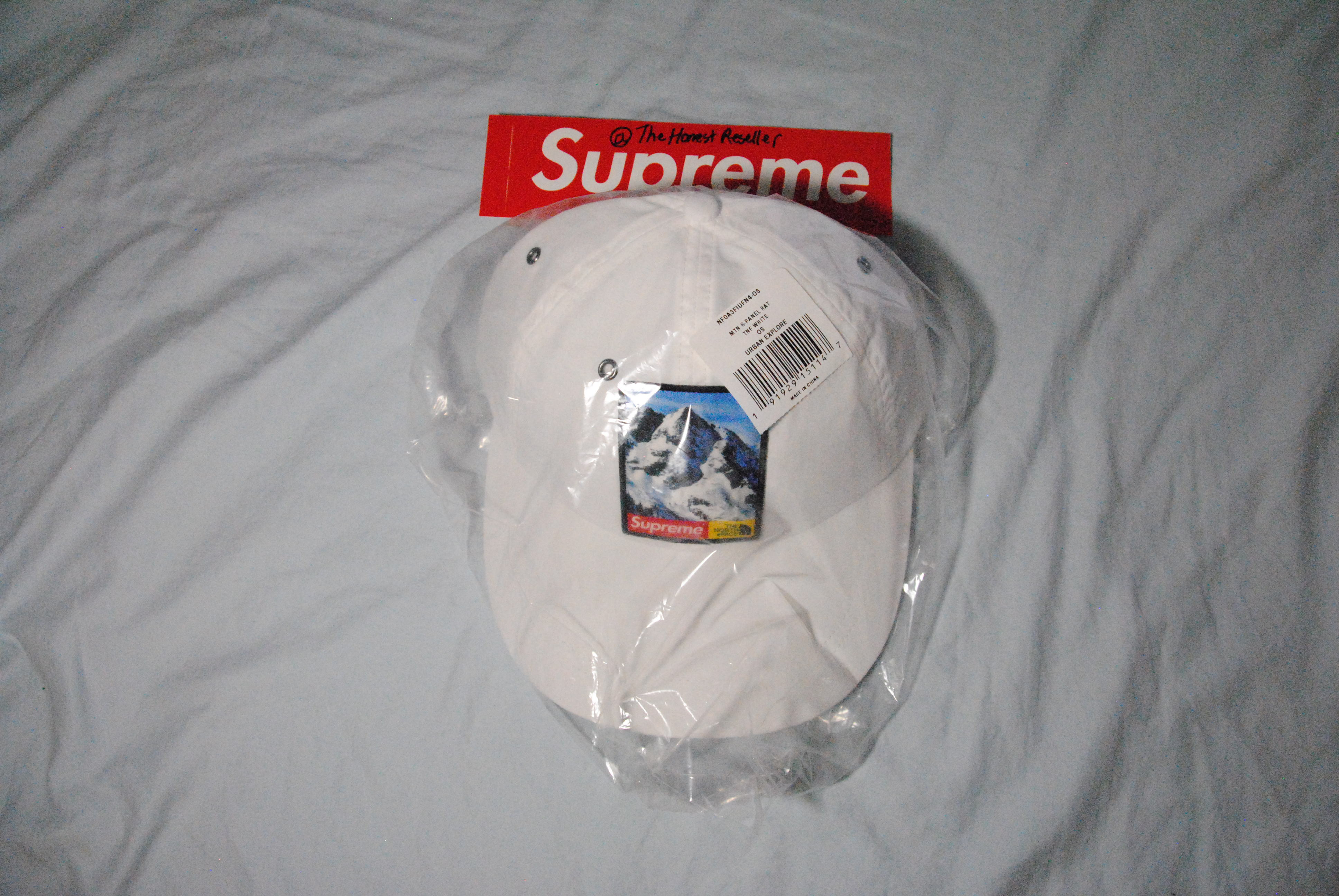 40ae9d70c404a Supreme Supreme   North Face Mountain 6 - Panel Hat White Size one size -  Hats for Sale - Grailed
