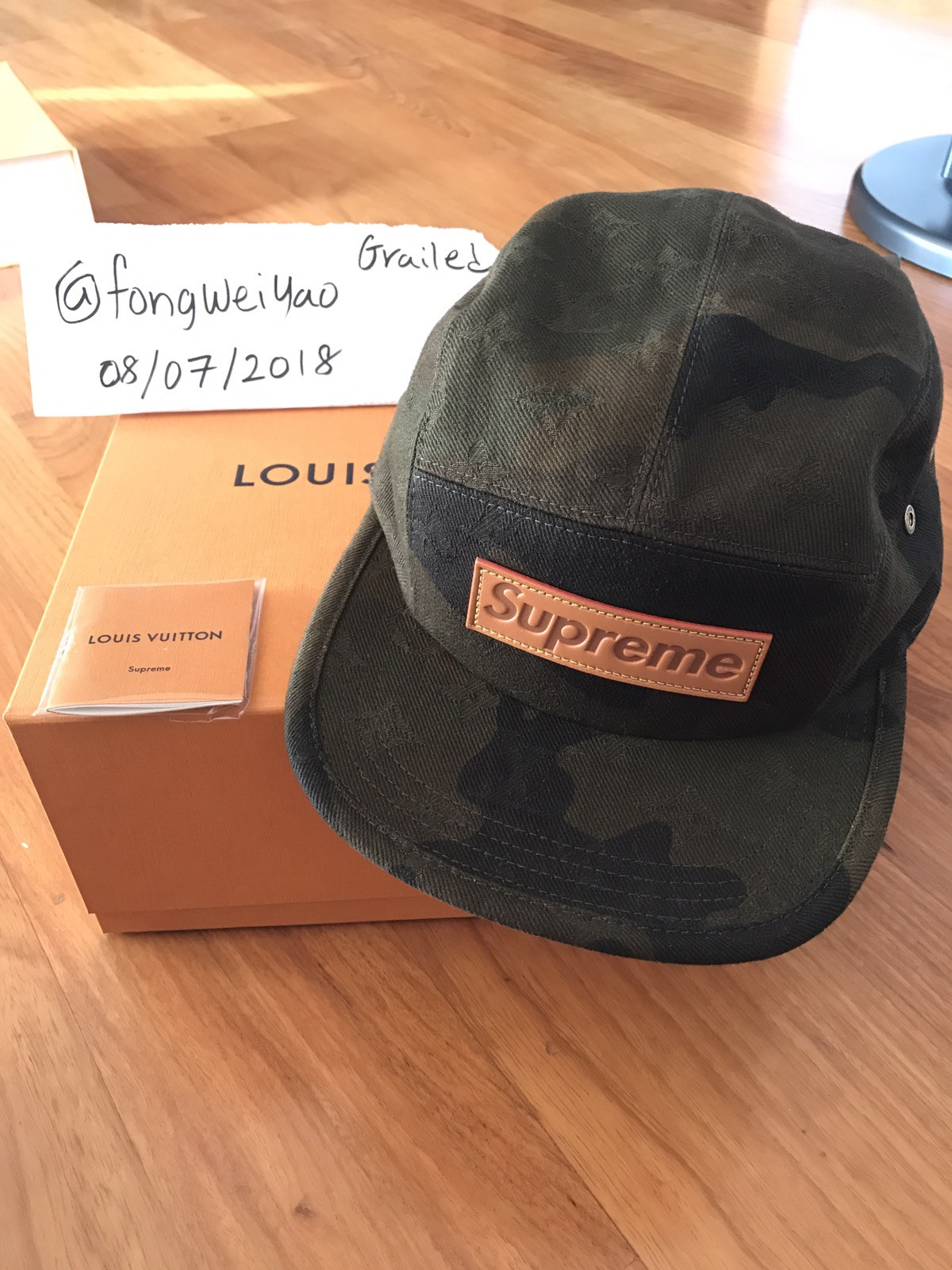 6dc8f3a1140 Supreme 5 Panel LV Monogram x Supreme BOGO Cap Size one size - Hats for  Sale - Grailed