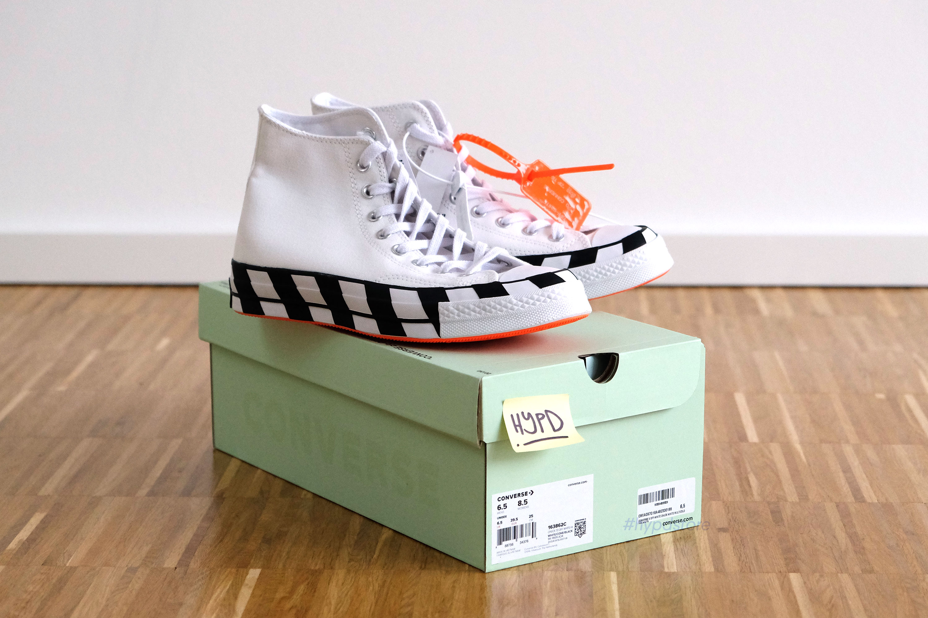 Converse Chuck Taylor x Off White by Virgil Abloh US 6.5 All Star 70s 163862C