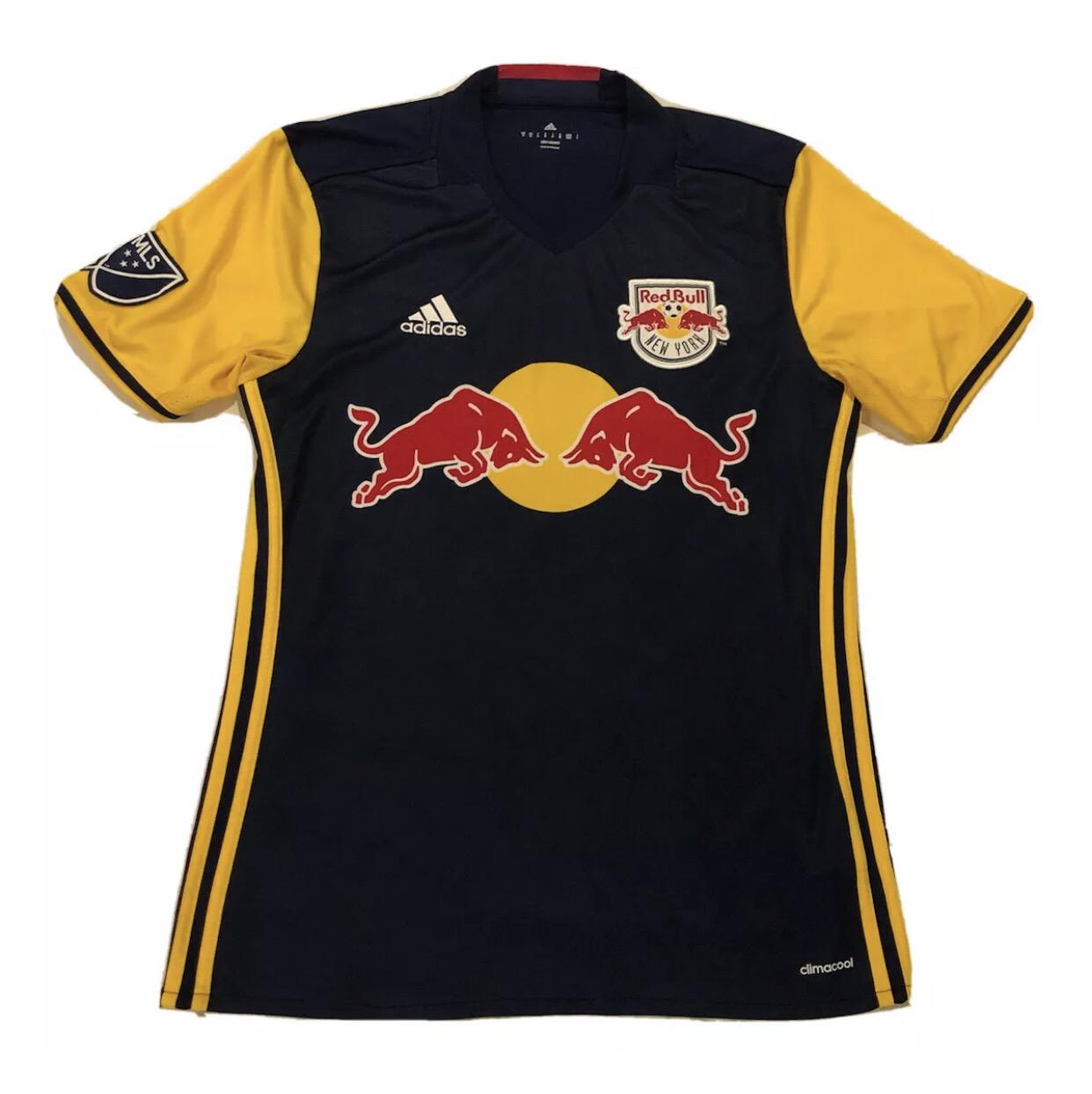 Adidas Adidas New York Red Bull Mens Sz Medium Jersey Away Soccer