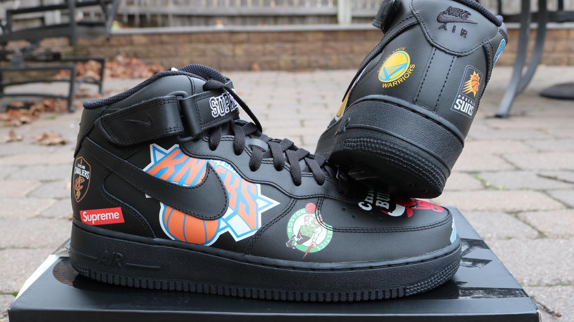 Supreme X Nike Af1 Nba Teams Black