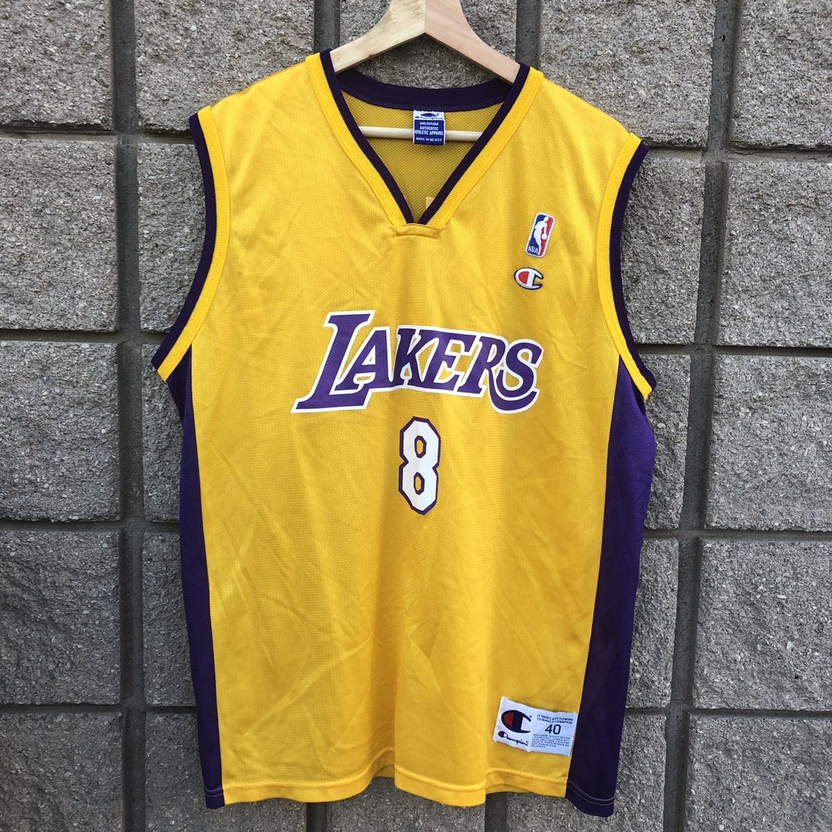 f1de166c5 Vintage × Champion × L.A. Lakers ×. Vintage Champion NBA LA Lakers Kobe  Bryant #8 Jersey