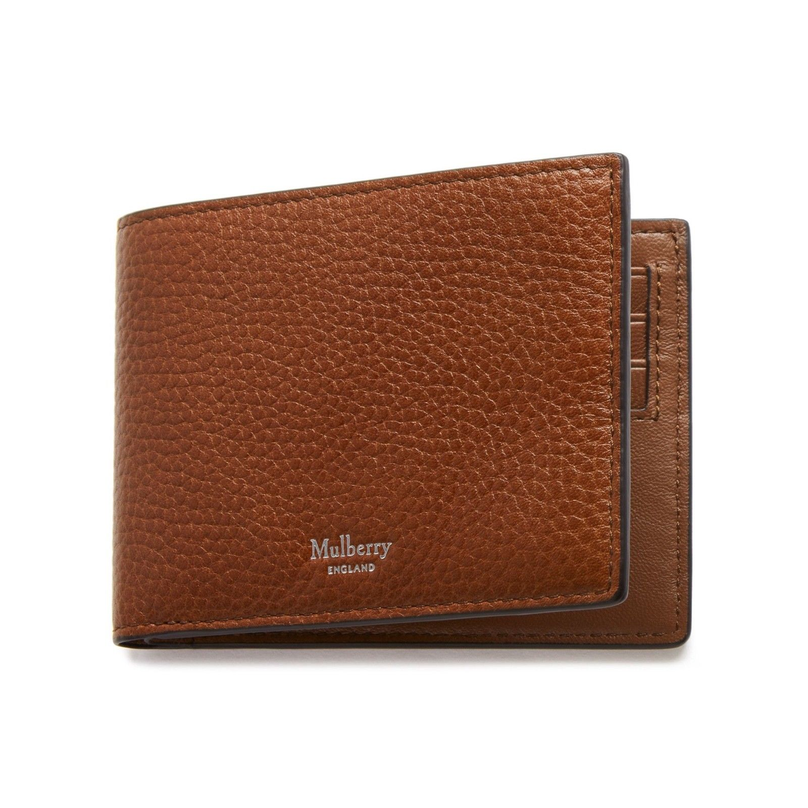 918f099b91f4 Mulberry Mulberry Men s 8 Card CC Natural Grain Leather Wallet Oak ...