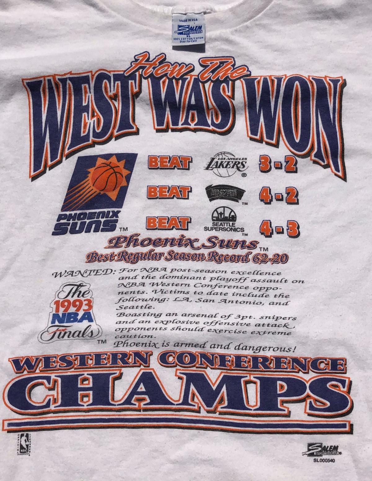 Vintage 1993 Western Conference Champs Phoenix Suns tank size large