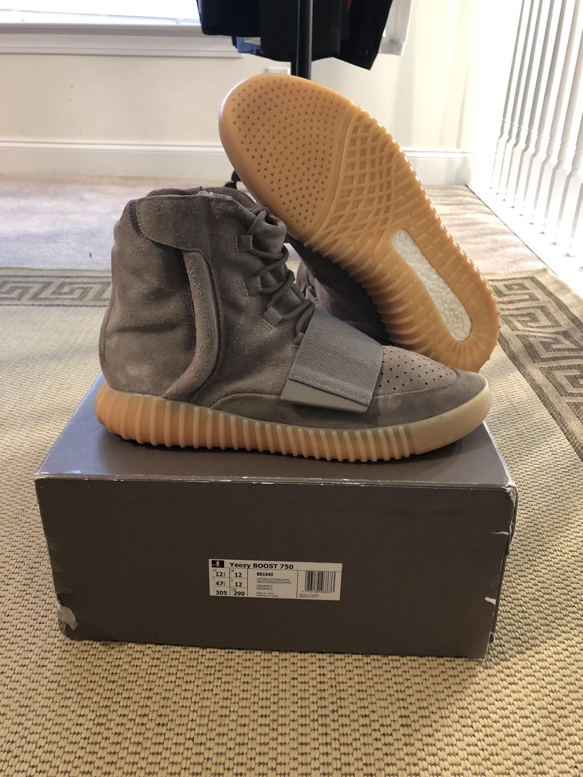 Facebook 2 Adidas Yeezy Boost 750 Grey Gum Size Eu 45