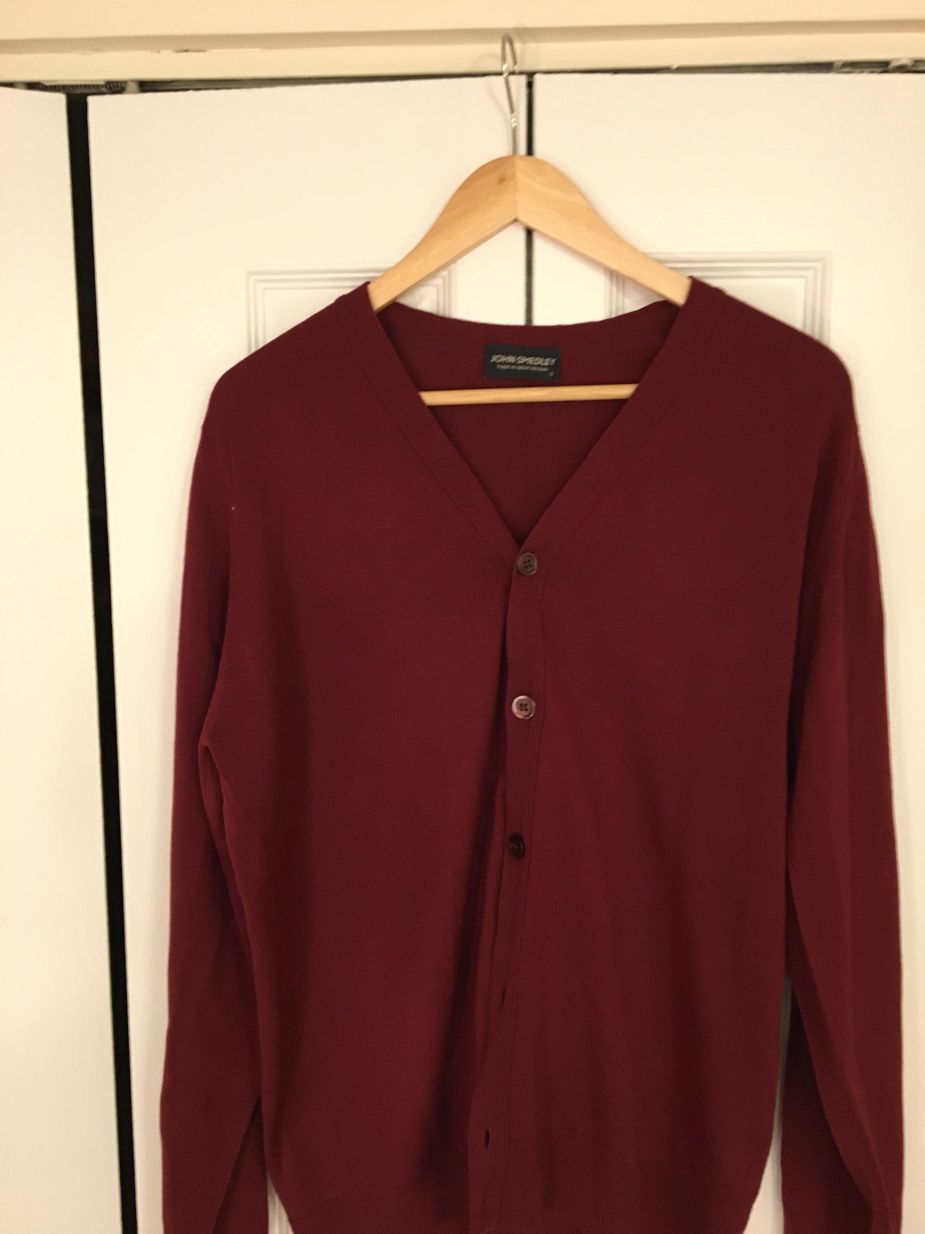 e7b92ff2721 John Smedley Red John Smedley Whitchurch Cardigan Size l - Sweaters ...