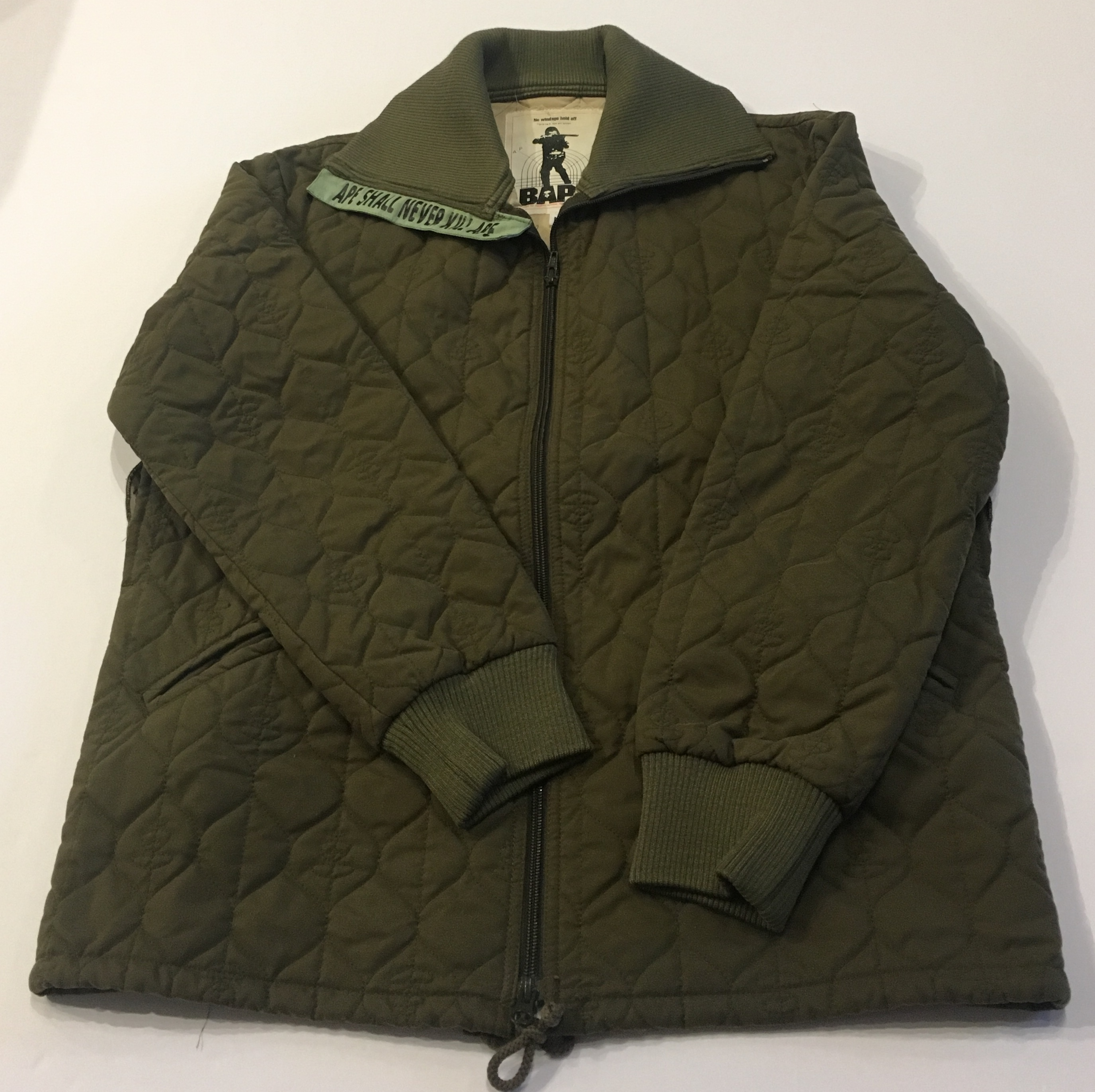 773349b98 Bape Bapesta logo padded bomber jacket