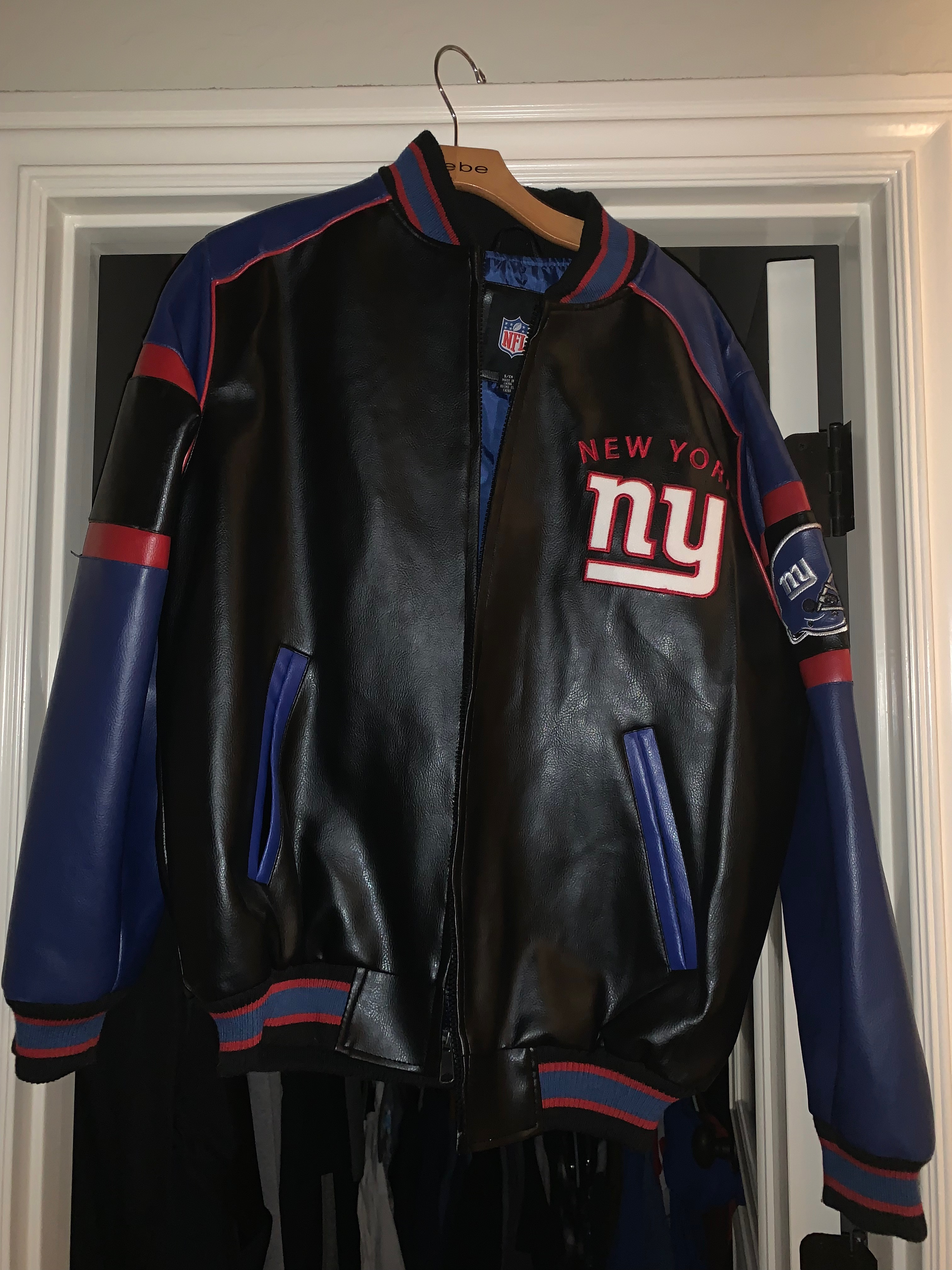 save off 0d450 d40d9 New York giants leather jacket