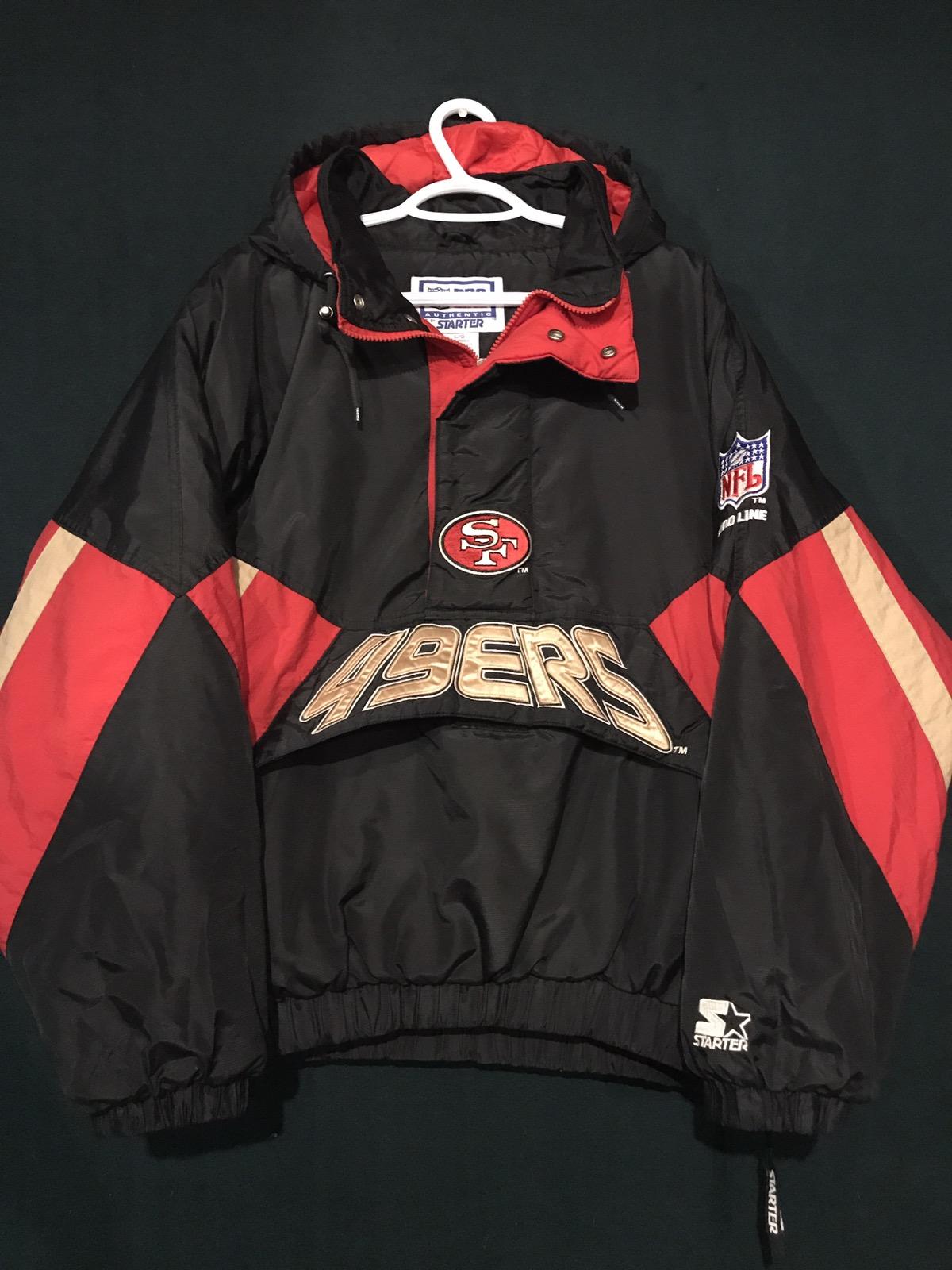 huge discount 7dad2 6bca1 Vtg San Francisco 49ers Starter Pullover Jacket