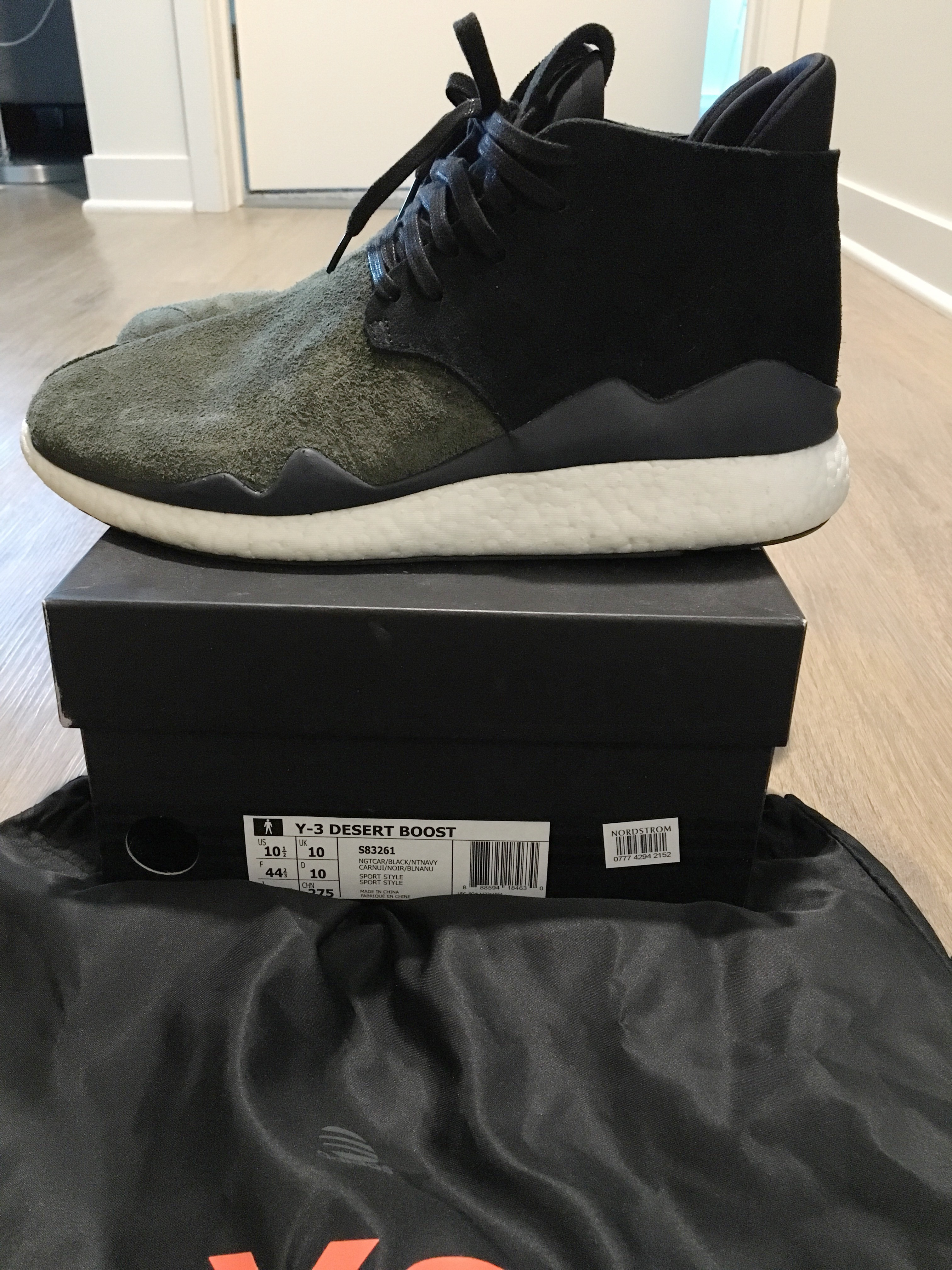 ae31ed0233791 Y-3 Y3 Desert Boost Olive Black Size 10 Size 10 - for Sale - Grailed