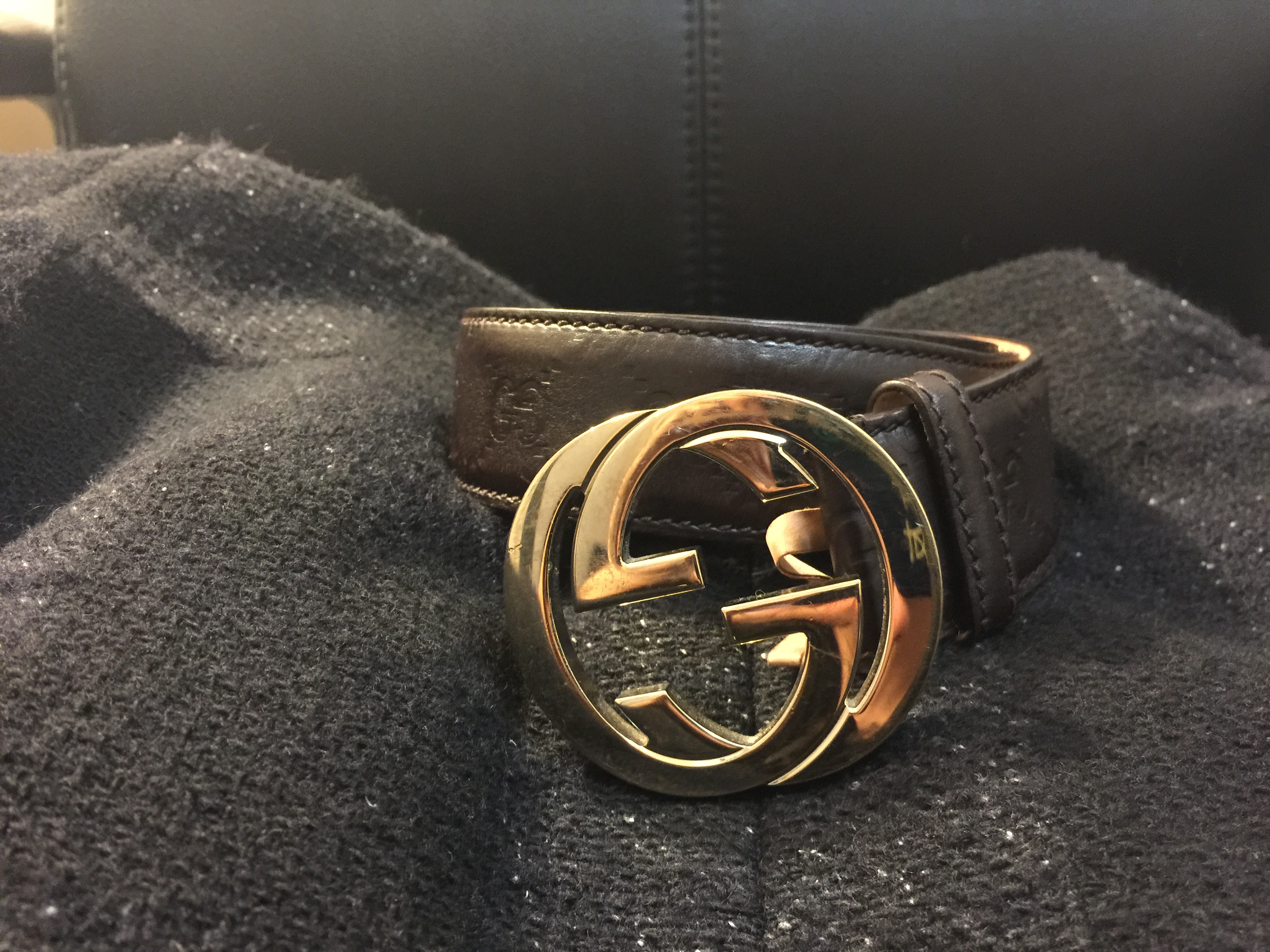 44584f2ad Gucci Guccissima Leather Belt With Interlocking G Buckle | Grailed