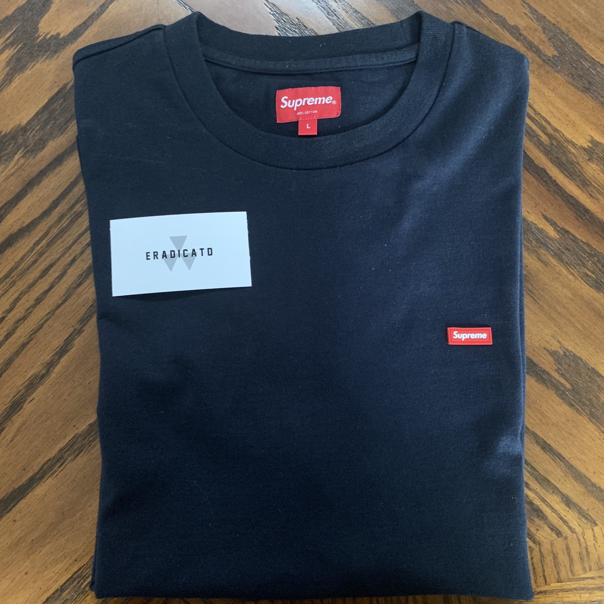 9a8bf65ece41 Supreme Supreme Ss19 Small Box Logo Tee | Navy | Grailed