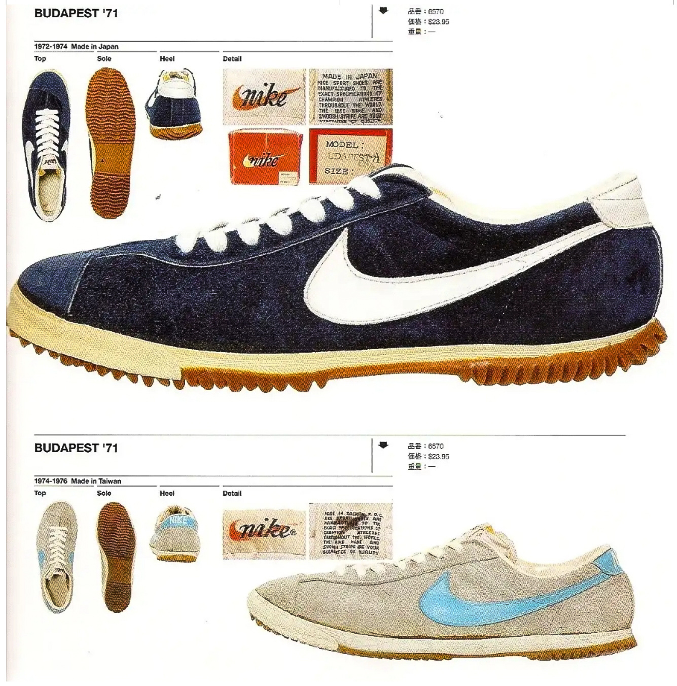 cozy fresh 8fbc7 4da6d Nike 1971 Nike Budapest Size 8.5 - Low-Top Sneakers for Sale