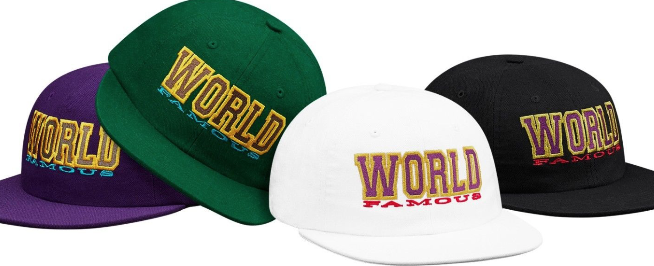 b71b00e983f Supreme NEW Supreme World Famous 6-Panel White Snapback Hat Size one size -  Hats for Sale - Grailed