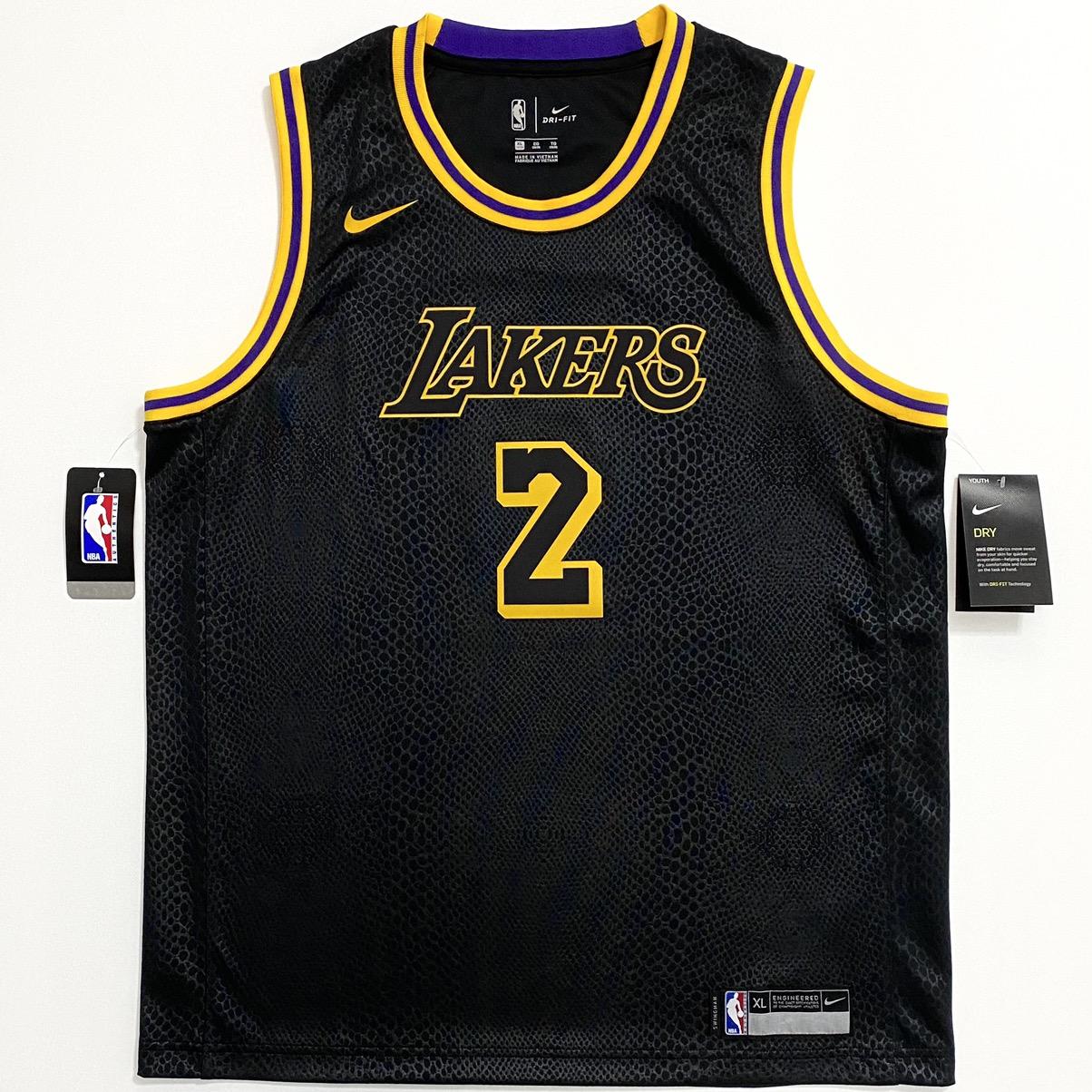 Nike Lonzo Ball Los Angeles Lakers Black Mamba Swingman Jersey