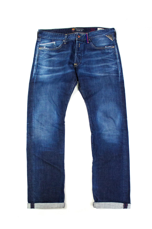 5a85d464732 Replay Replay Waitom Fc Barcelona Regular Slim Fit Jeans