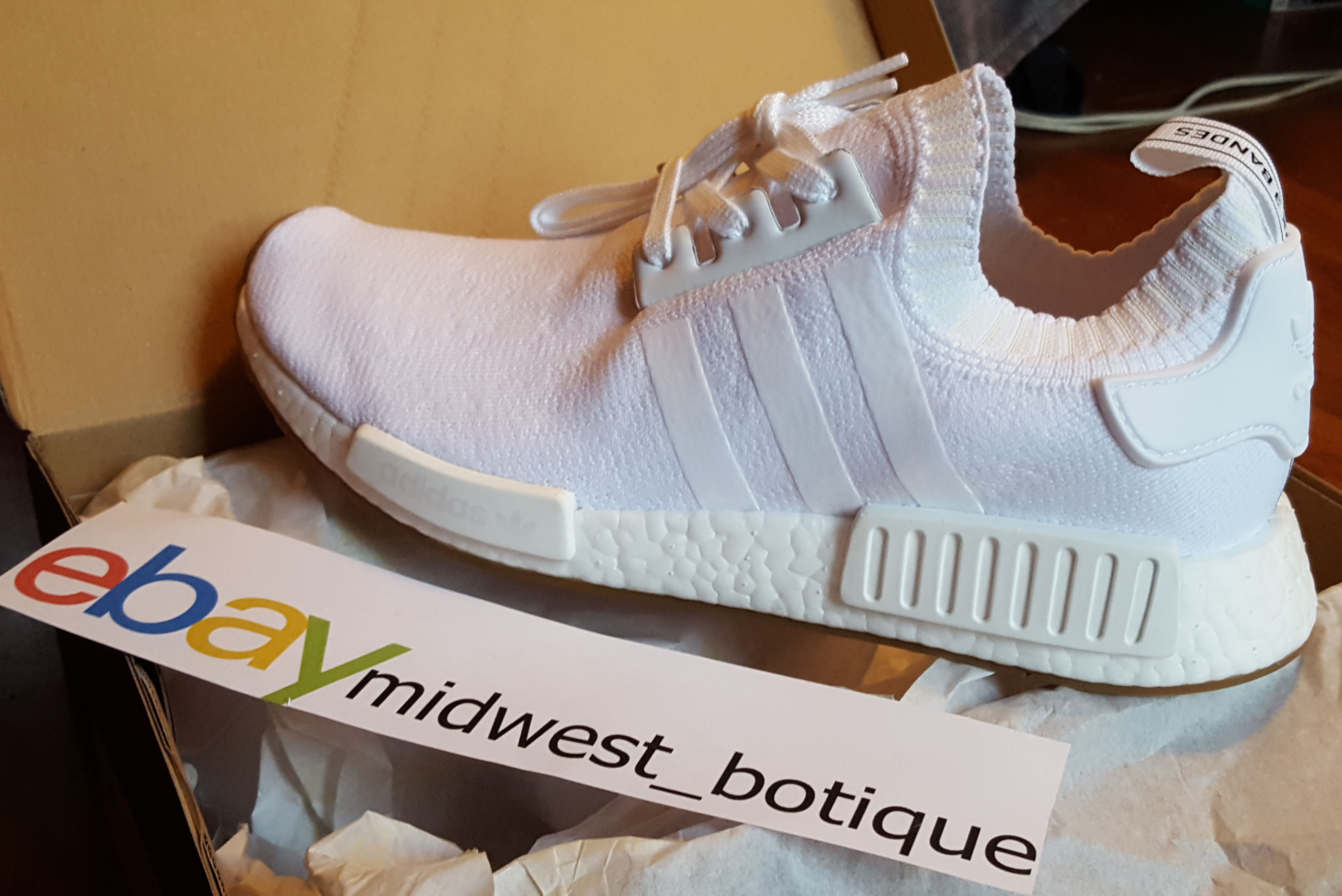 56fdb644b Adidas Gum Pack White NMD R1 Primeknit (BY1888) Size 10.5 - Low-Top  Sneakers for Sale - Grailed