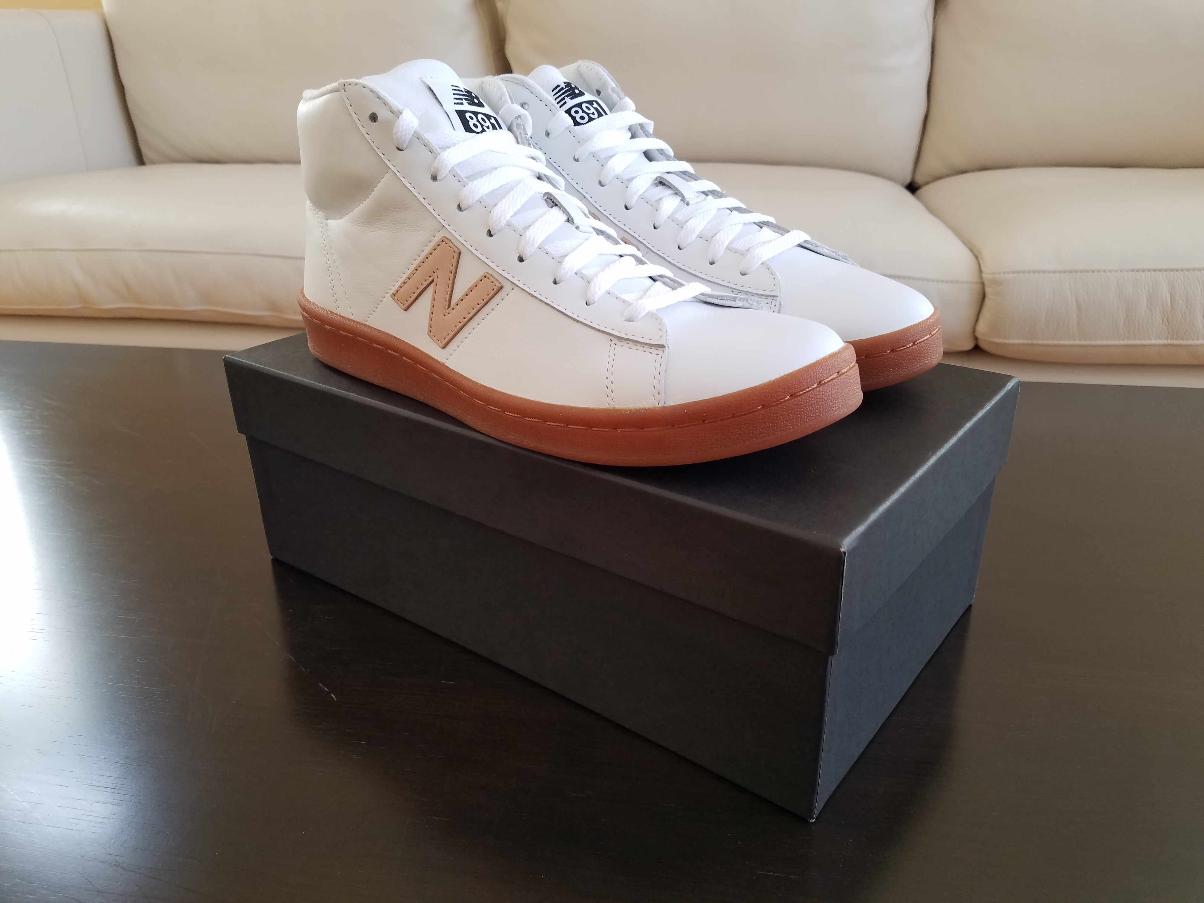 6905357bc8a8 New Balance × J.Crew ×. 891 Leather High-Top Sneakers