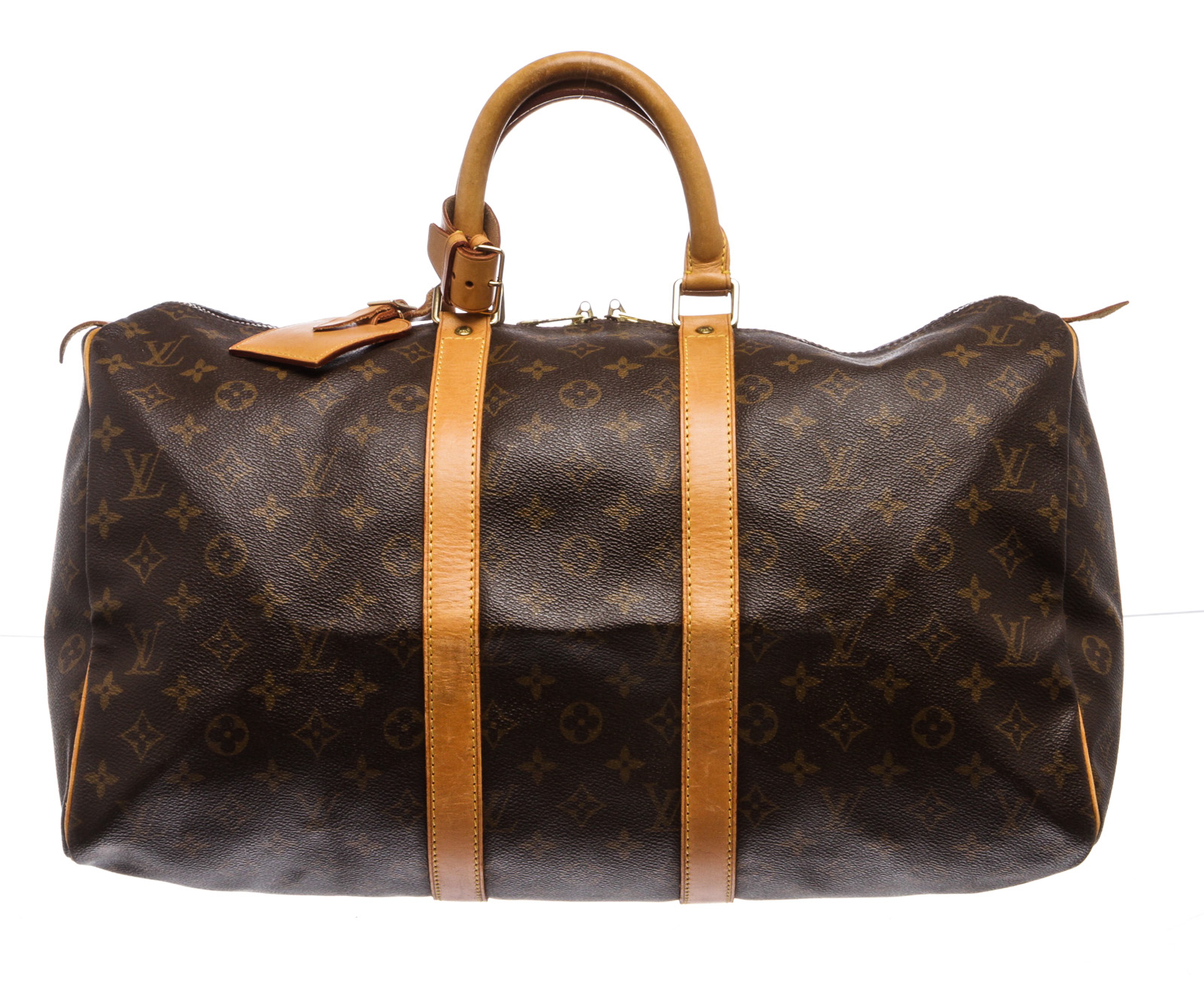 91368ecfded9 Keepall 45 cm Duffle Bag Luggage Louis Vuitton Monogram Canvas Leather
