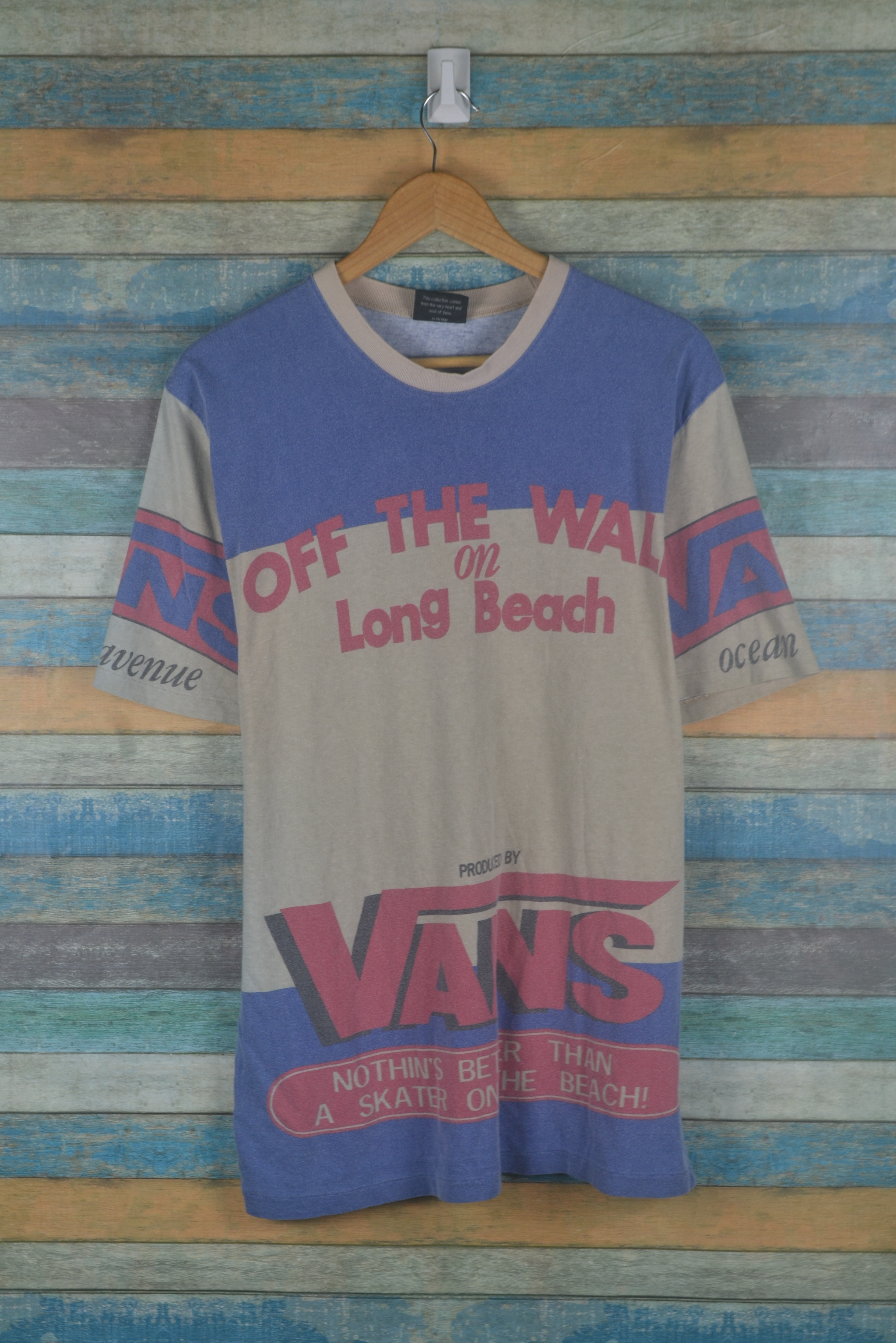 vans vintage 90s vans off the wall fullprint usa long beach shirt grailed vintage 90s vans off the wall fullprint usa long beach shirt