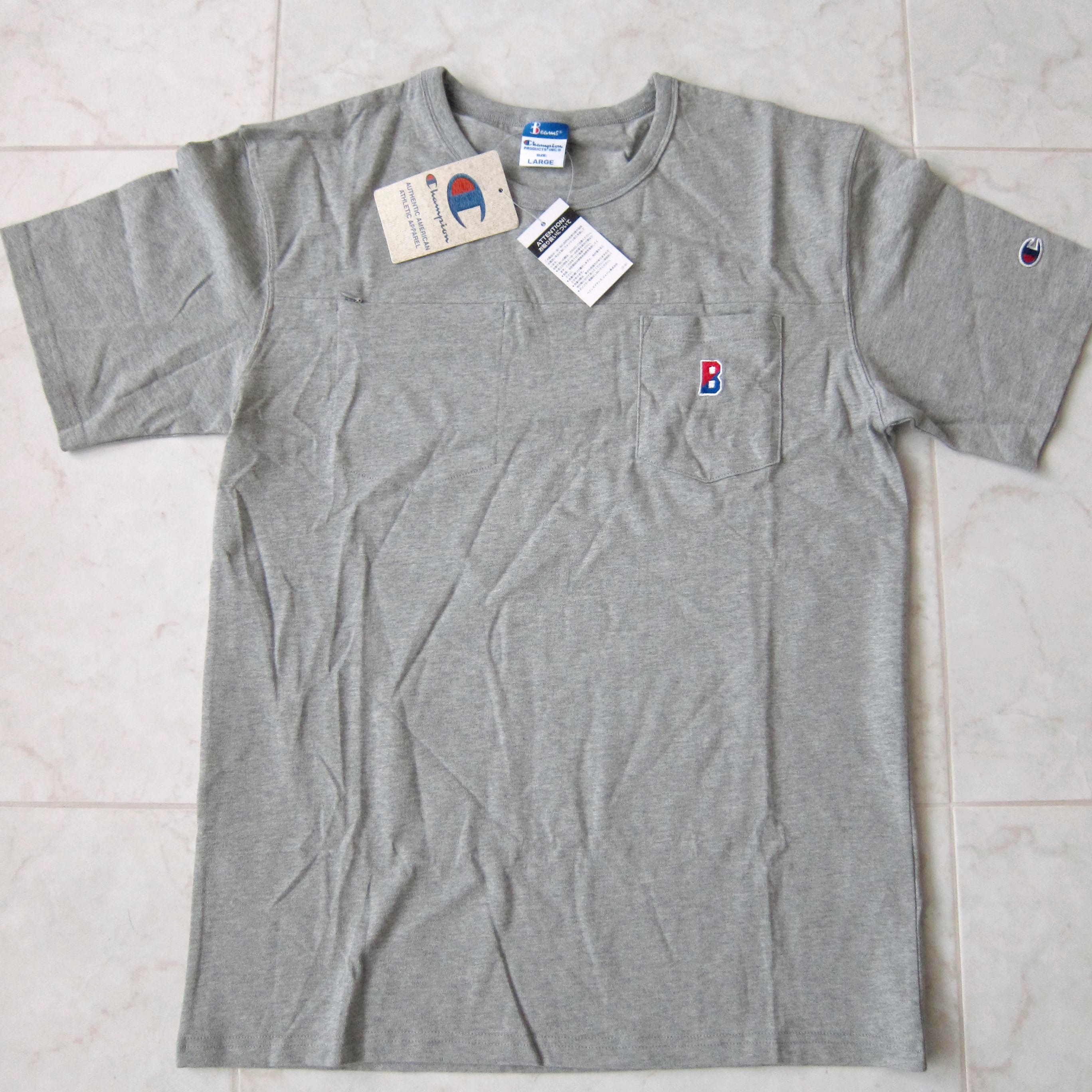 3e9264b92 Beams Plus × Champion ×. CHAMPION X BEAMS JAPAN LIMITED DOUBLE POCKET TEE