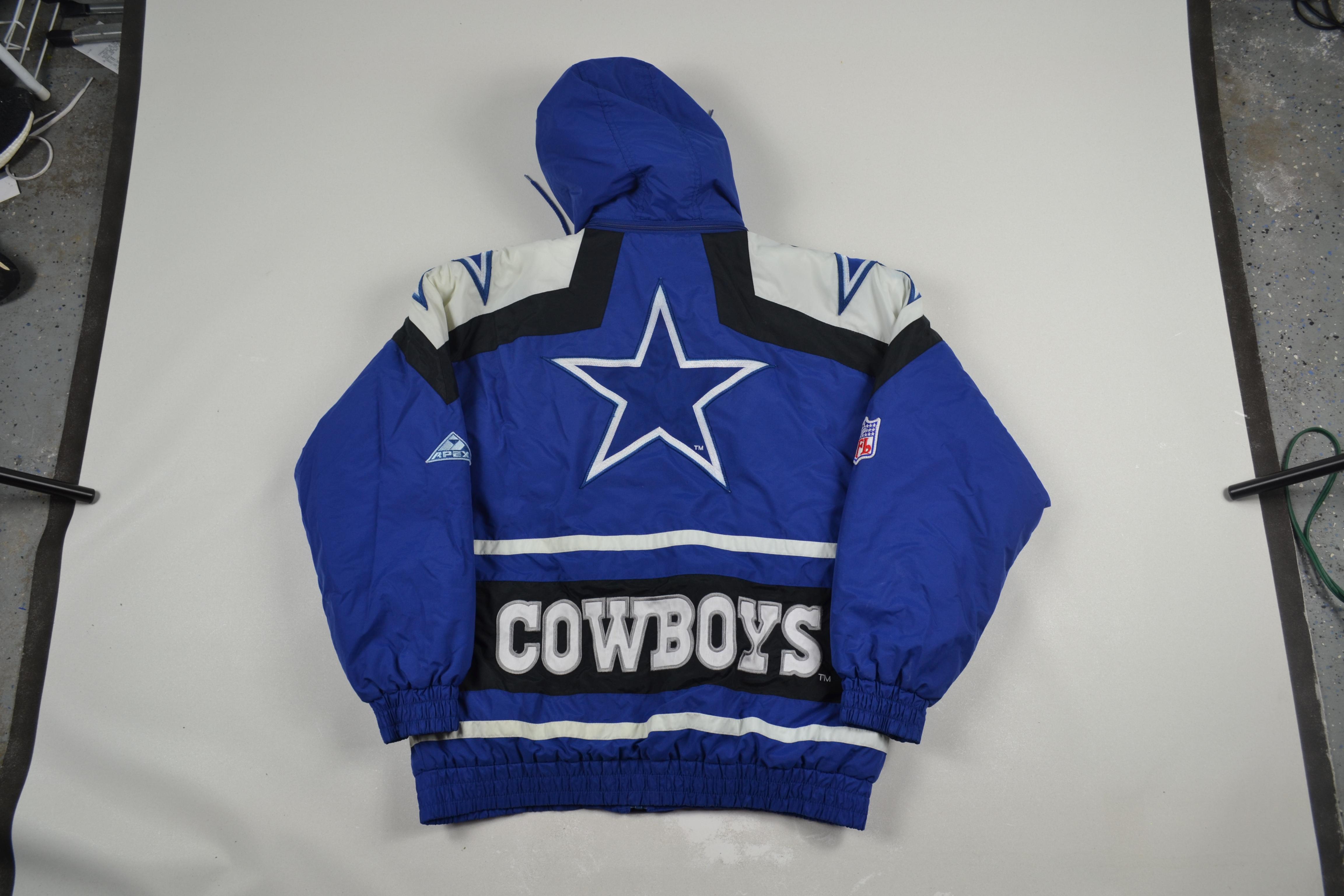 new concept 058d5 a53fa VTG 90s Dallas Cowboys Apex Windbreaker Jacket Coat Sweater NFL Football  80s 90s streetwear fashion hip hop