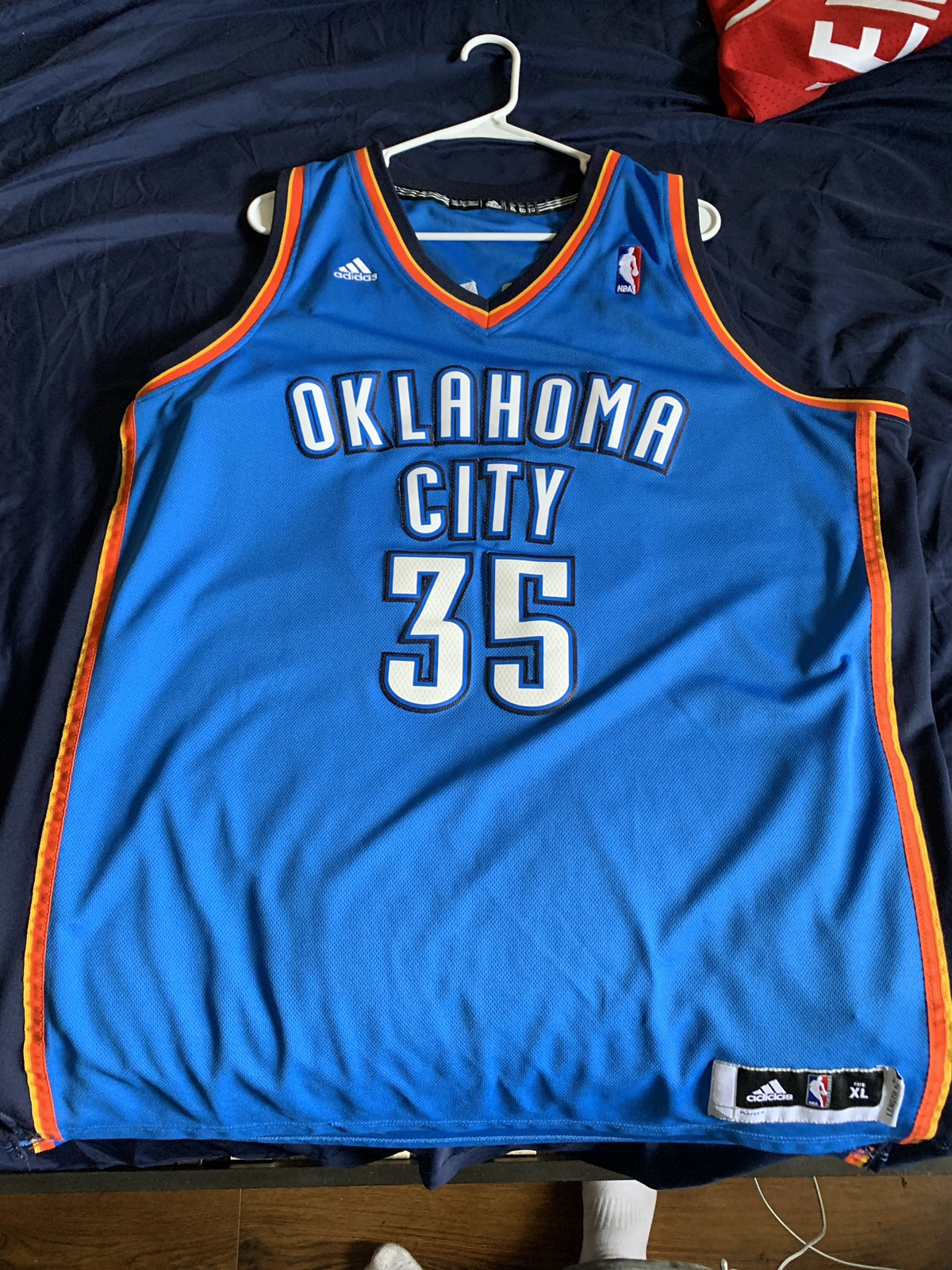 b38f0cc34 Adidas × Vintage ×. Adidas Oklahoma City Thunder Kevin Durant Jersey