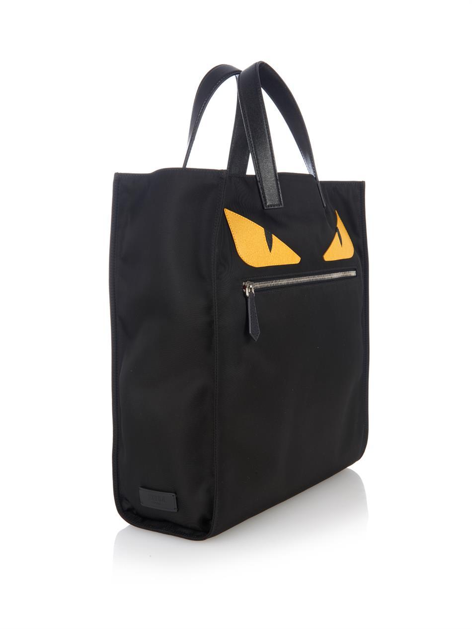 6d06daf997 Fendi Fendi Men s Black Monster-Eyes Nylon Tote Size one size - Bags    Luggage for Sale - Grailed