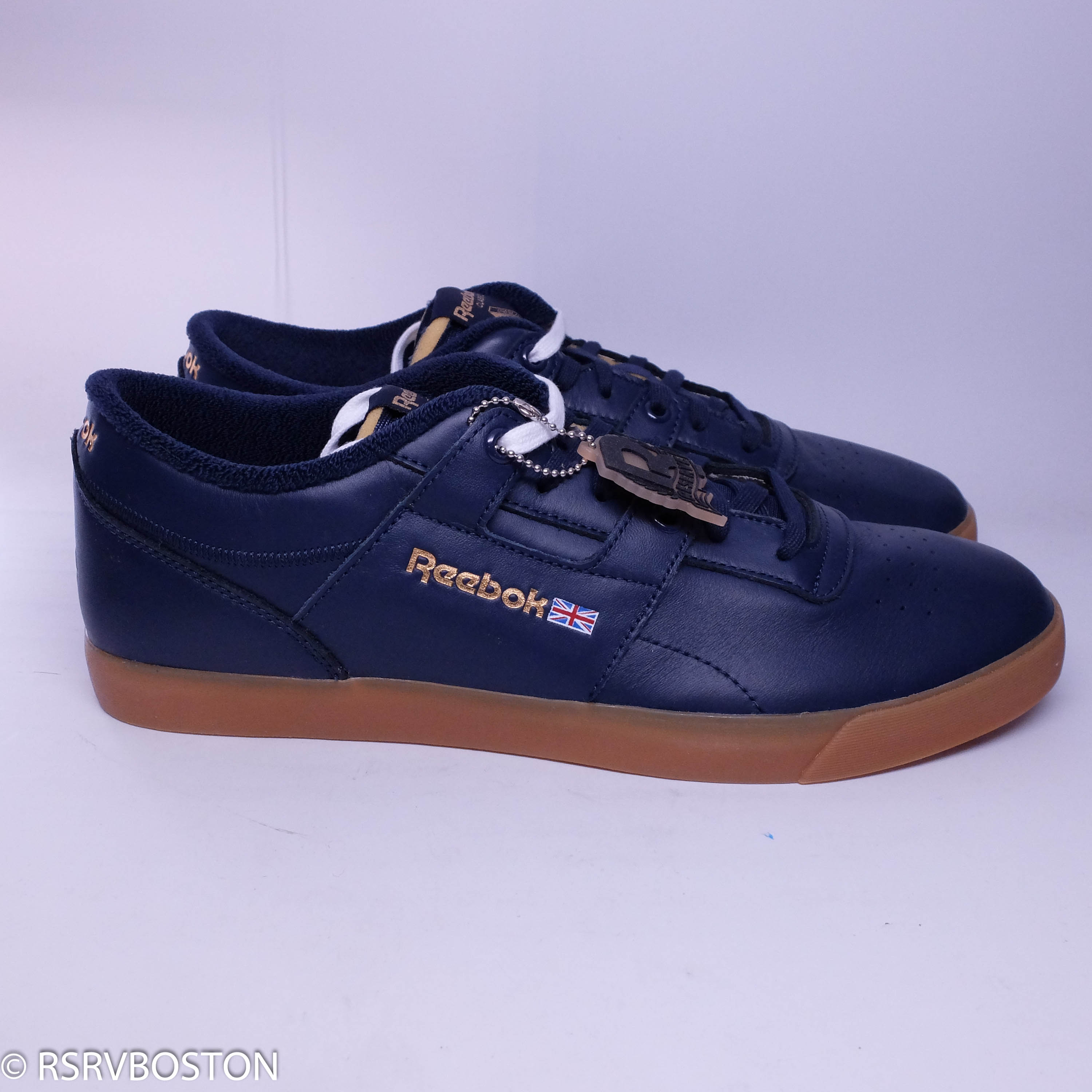 01adb7a7406 Palace × Reebok ×. New Workout Low Clean FVS Collegiate Navy ...