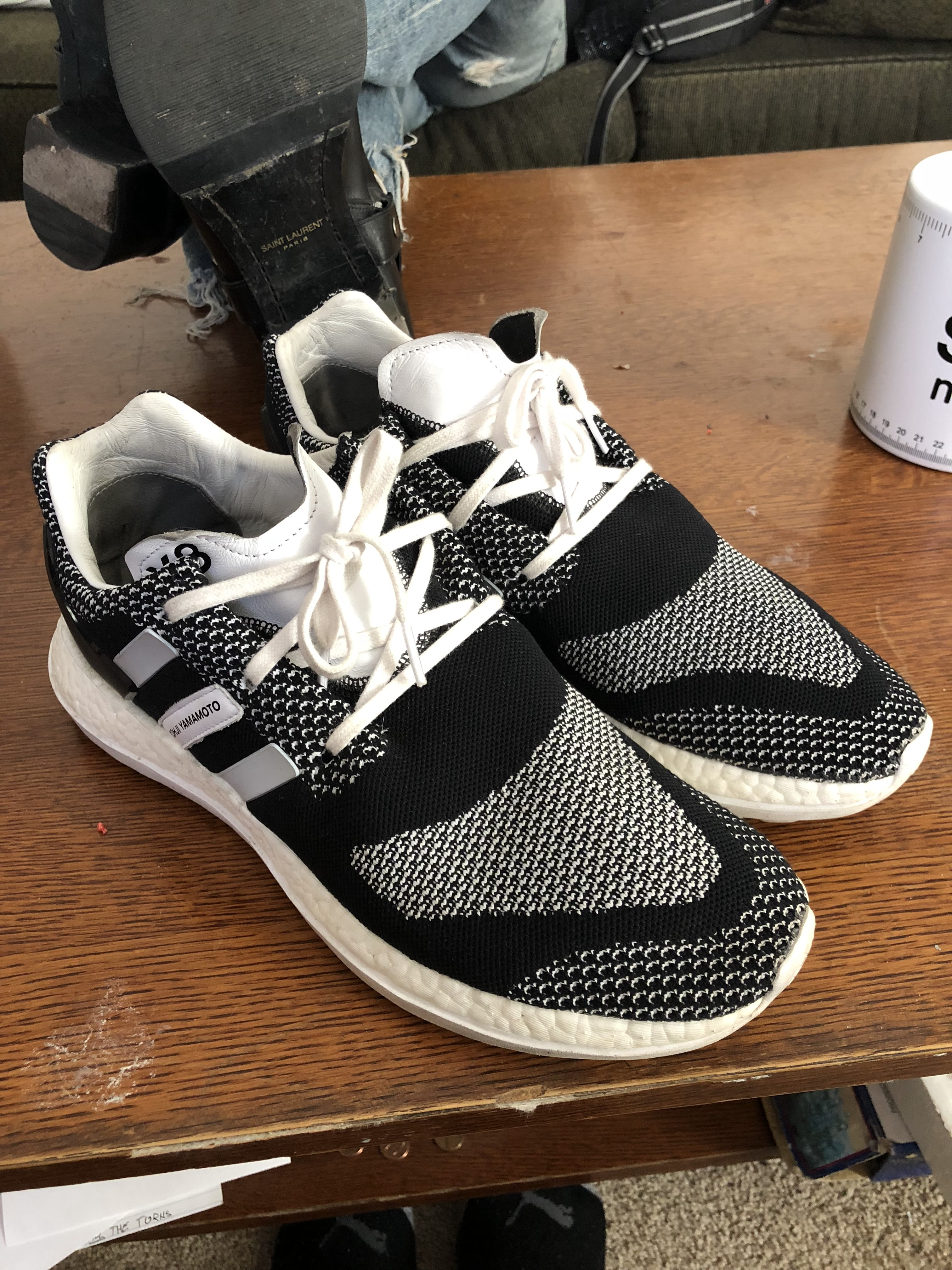c981f9a50 Adidas Y-3 Pure Boost Zg Knit White Black Oreo Size 11.5 - Low-Top ...