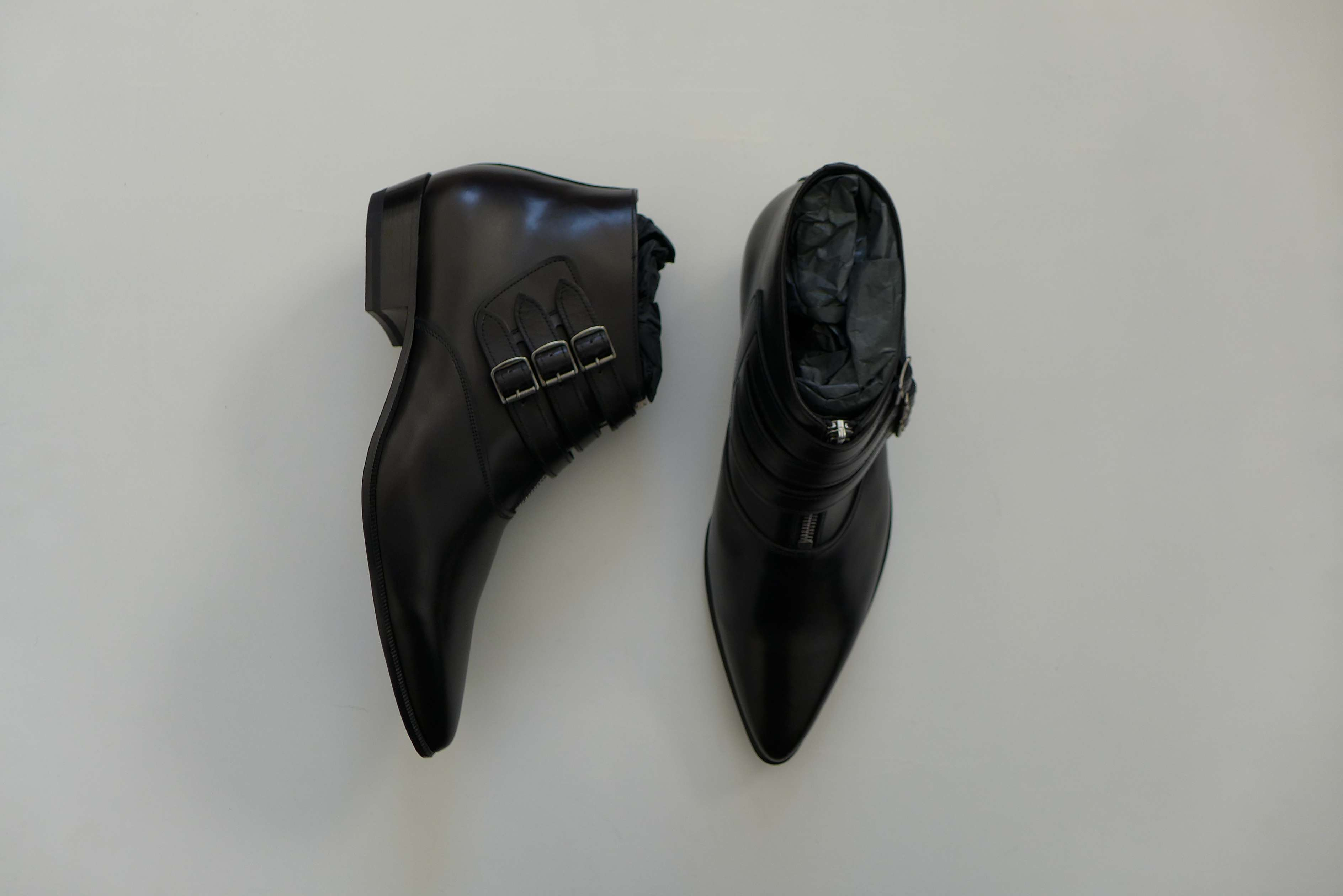 d0b2c3662ea SS14 Hedi Slimane Duckies Three Buckle Ankle Boots