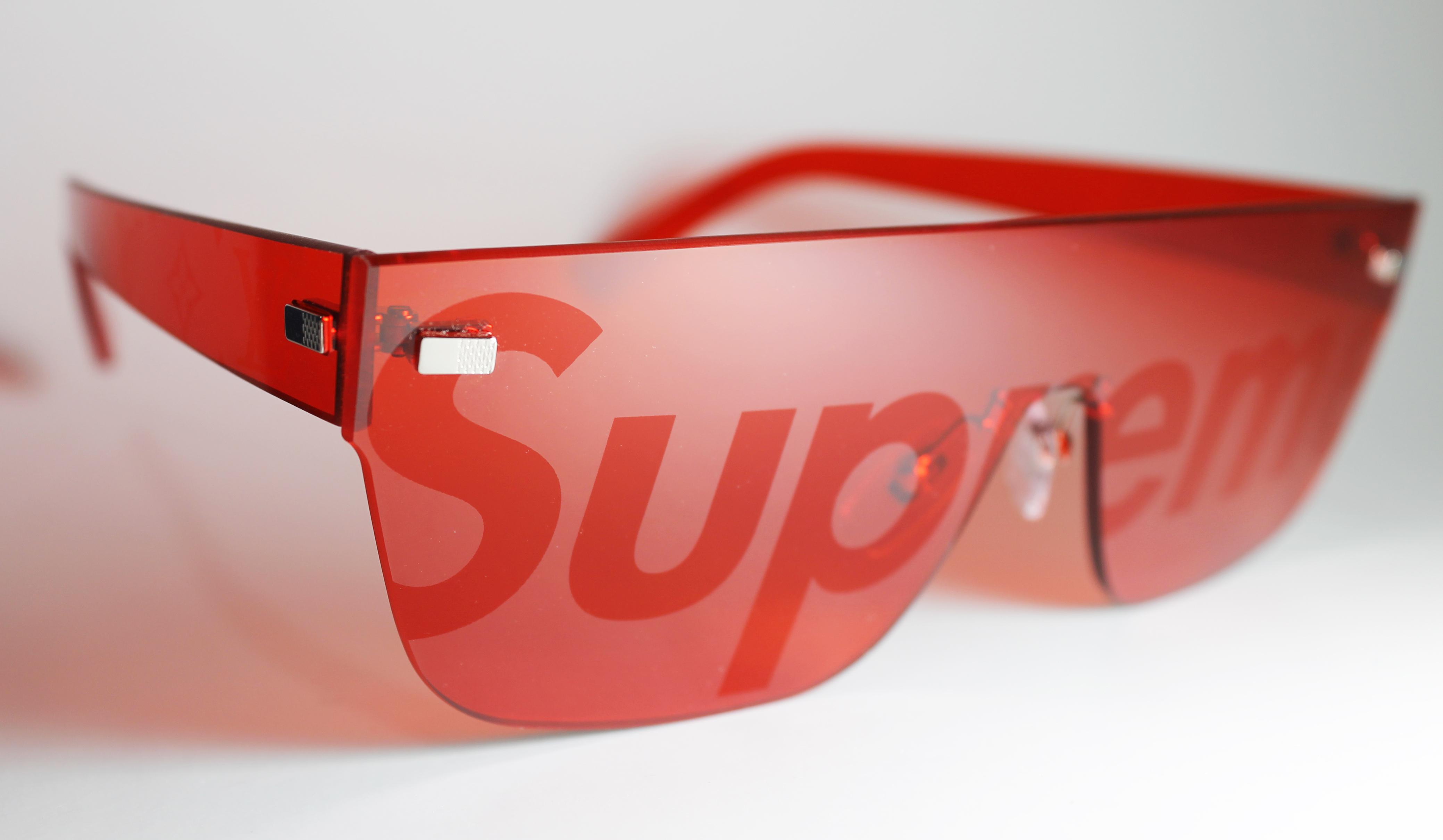 93d4346e8db63 Supreme × Louis Vuitton ×. Supreme City Mask Sunglasses ...