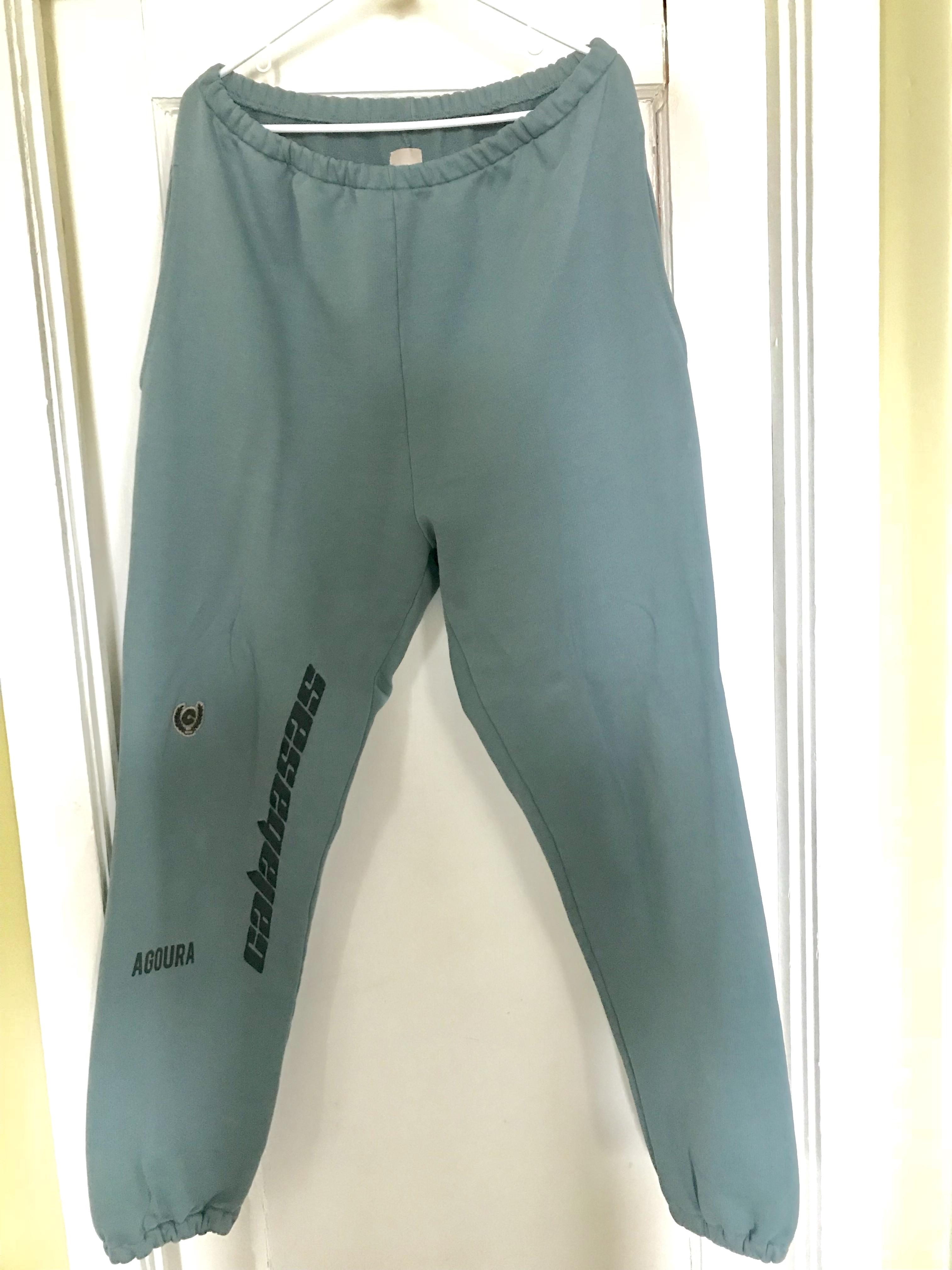 2d1c0f601 Yeezy Season ×. Yeezy Season 5 Hospital Blue Embroidered French Terry  Sweatpants XL
